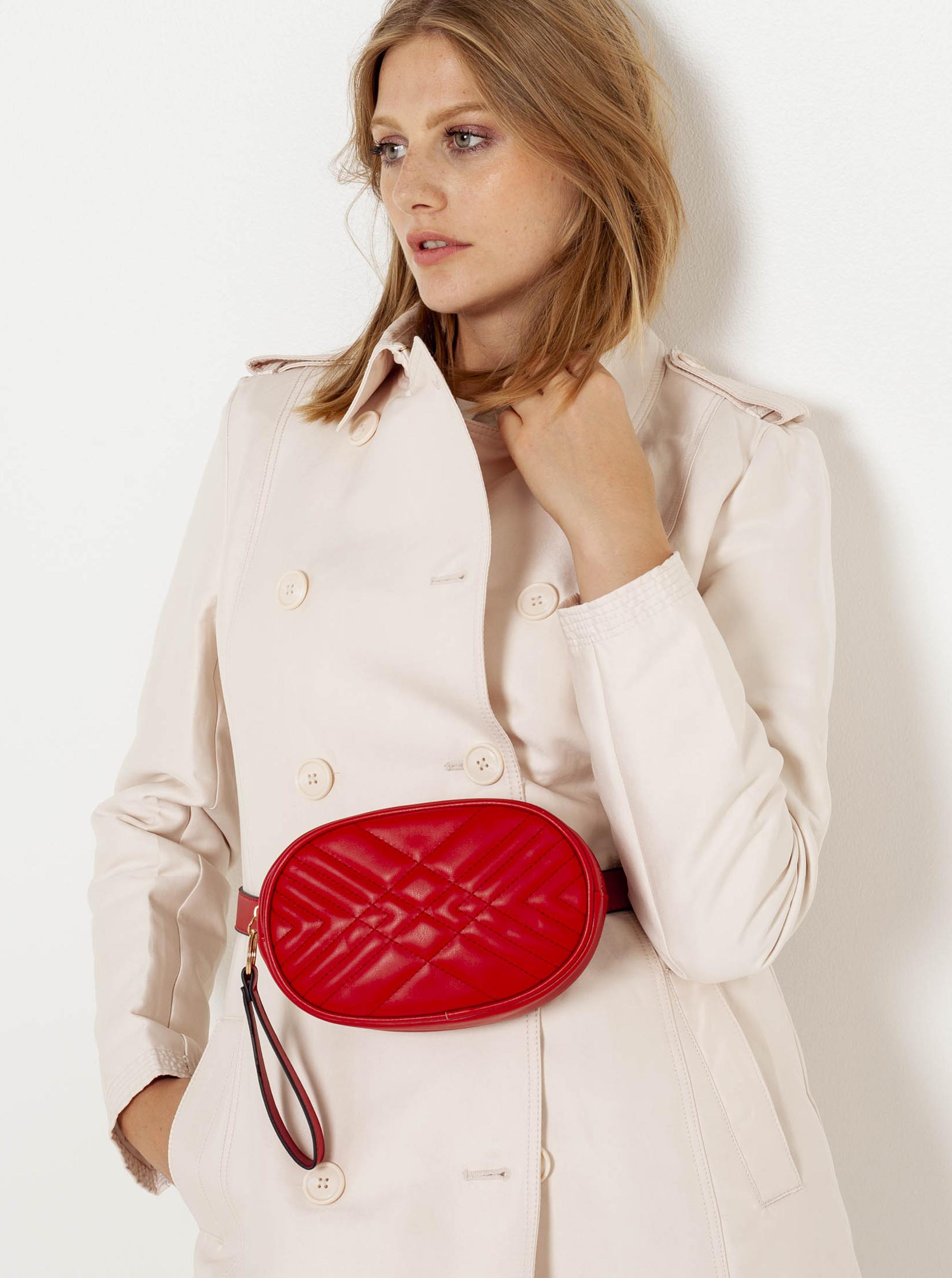CAMAIEU Ženske torbe okoli pasu rdeča