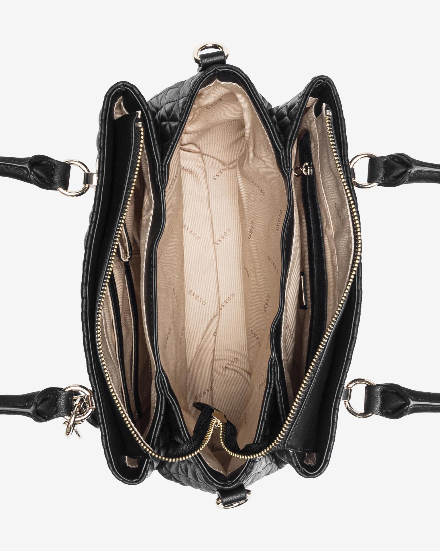 Guess črna torbica Brinkley