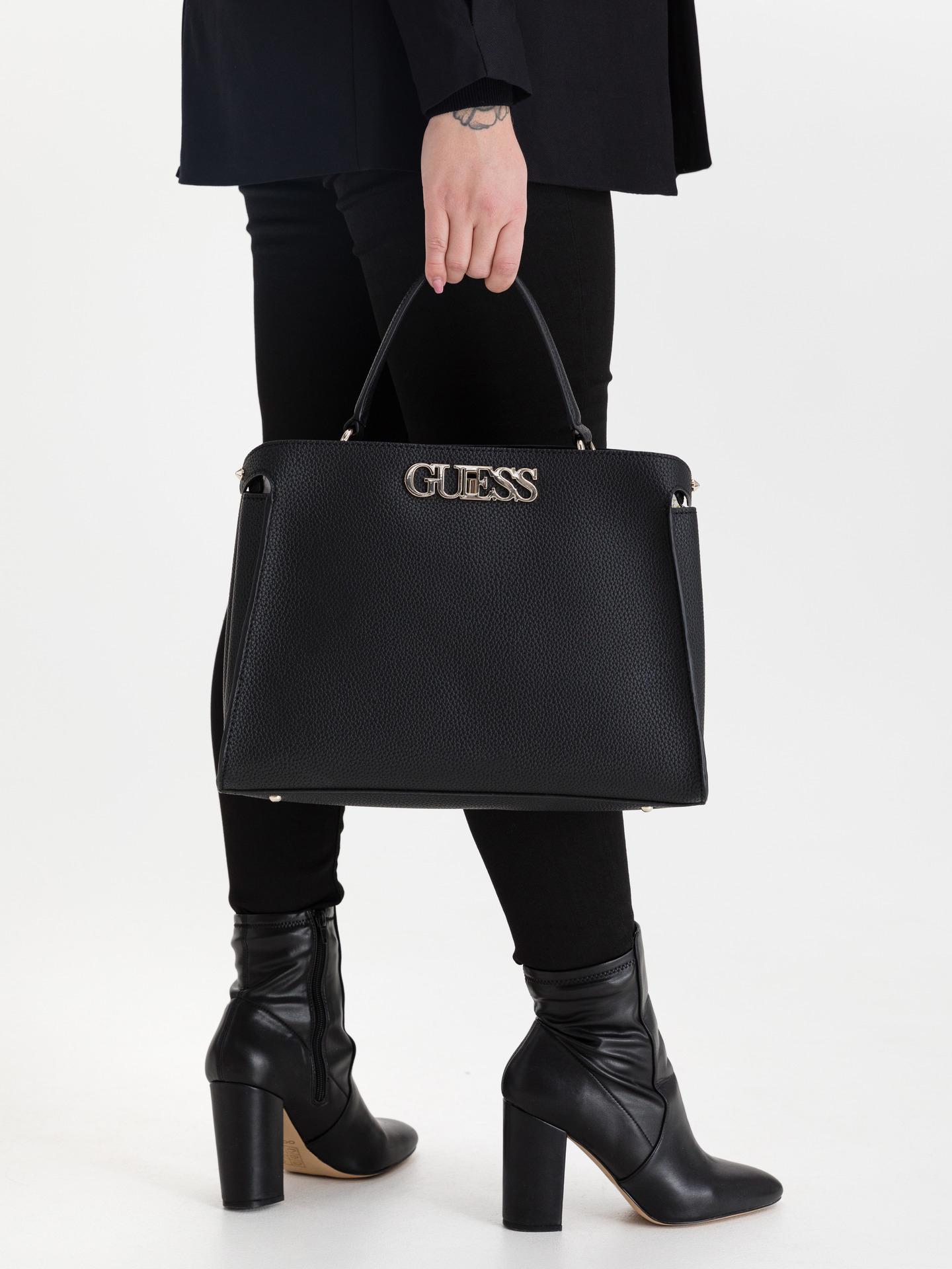 Guess črna torbica Uptown Chic Large