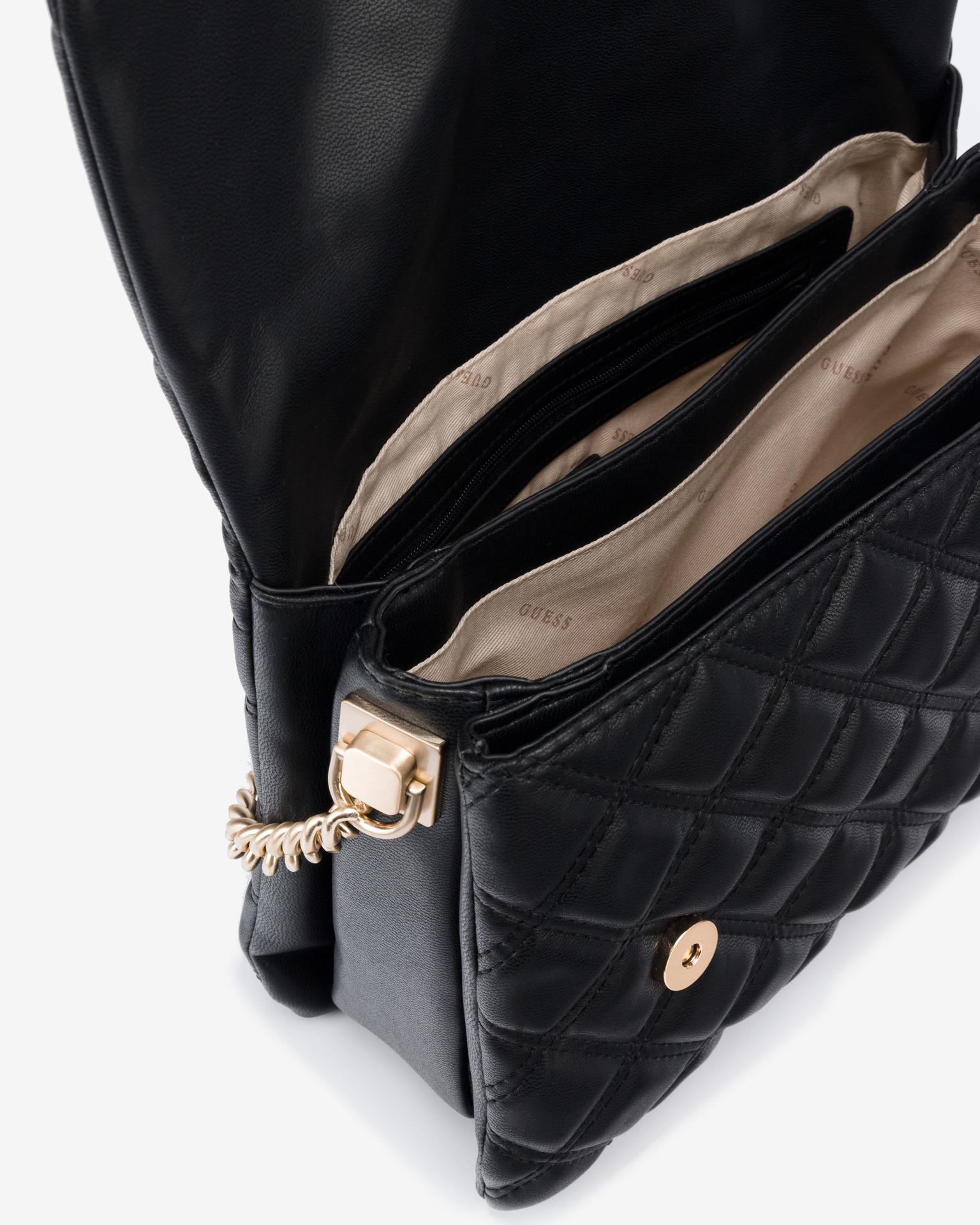 Guess črna torbica Kamina