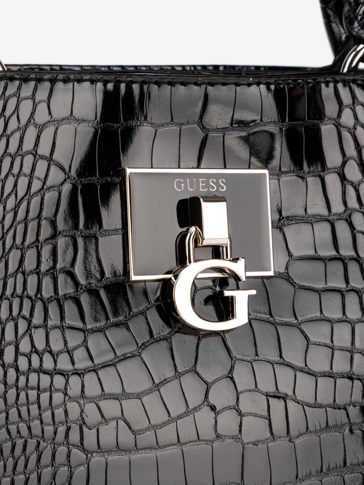 Guess črna torbica Carabel