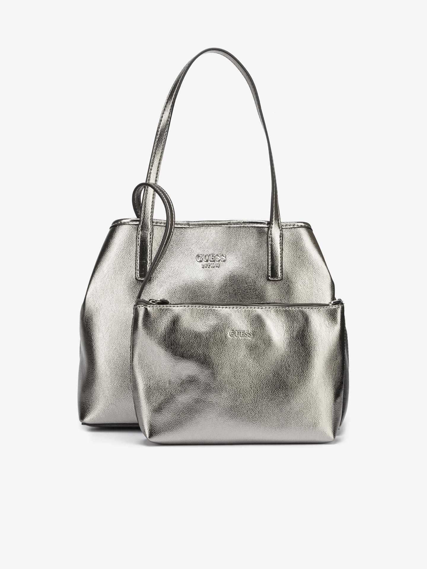 Guess srebrna torbica Vikky