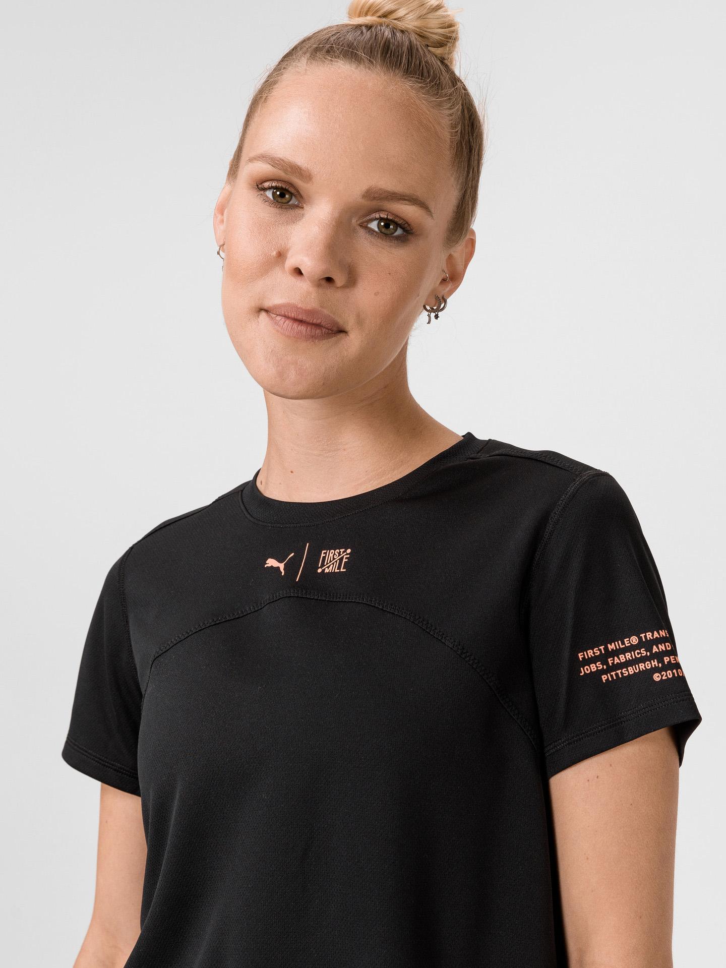Puma črna ženske majica The First Mile