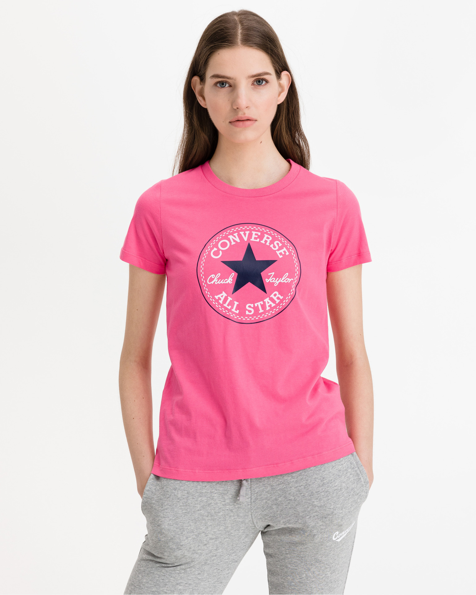Converse roza ženske majica Chuck Patch Nova