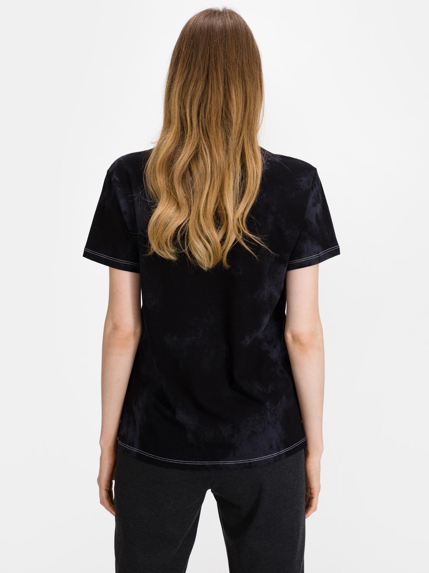 Converse črna ženske majica Sun Washed Logo