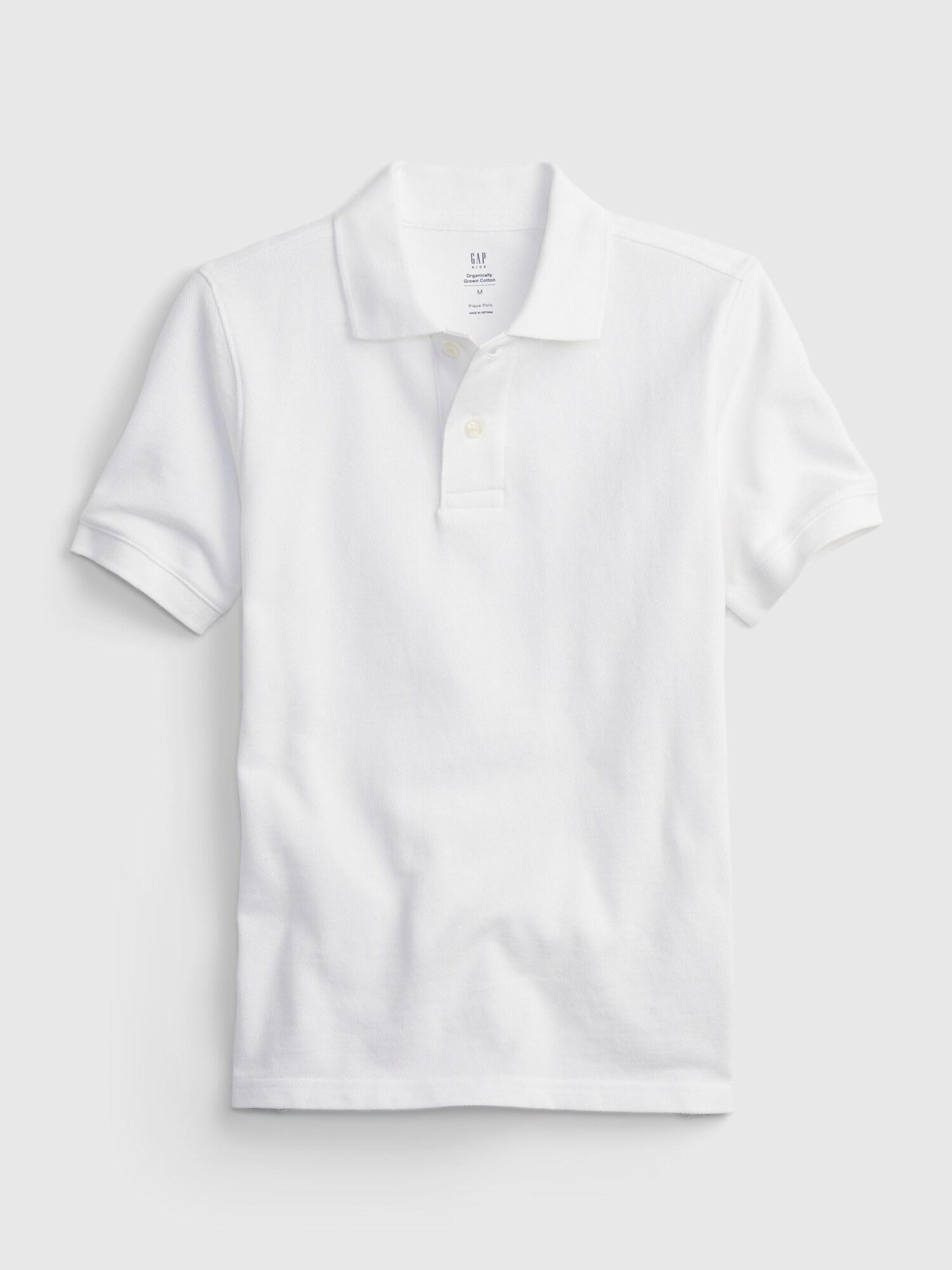 GAP Uni Polo majica otroška Bela