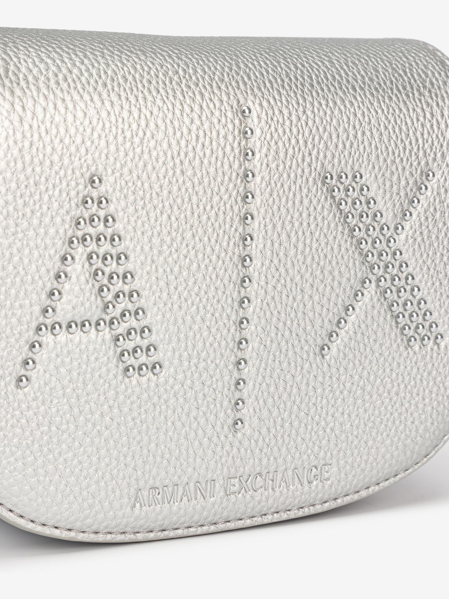 Armani Exchange srebrna torbica