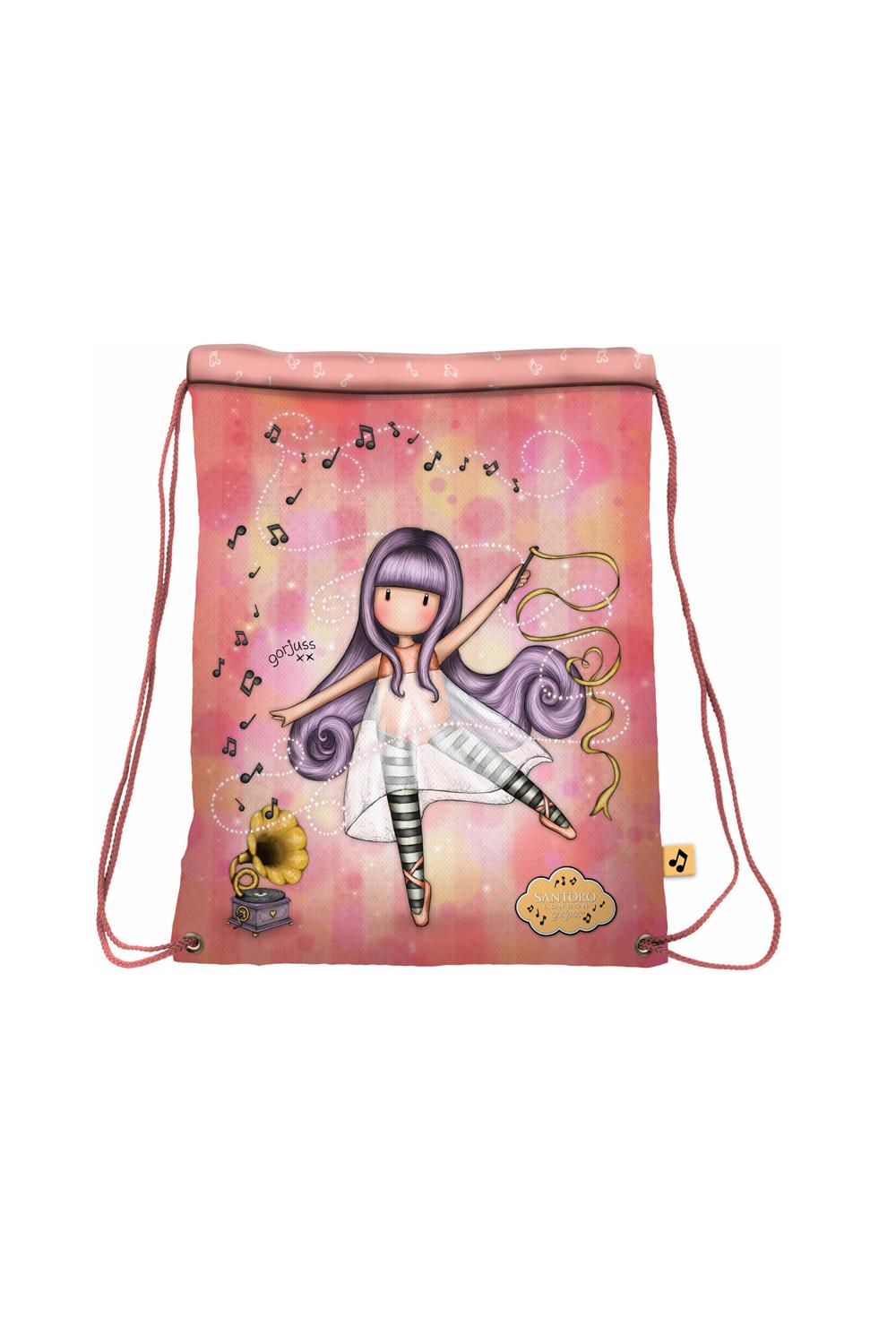 Santoro losos zatezna vrečka z vrvico Gorjuss Little Dancer