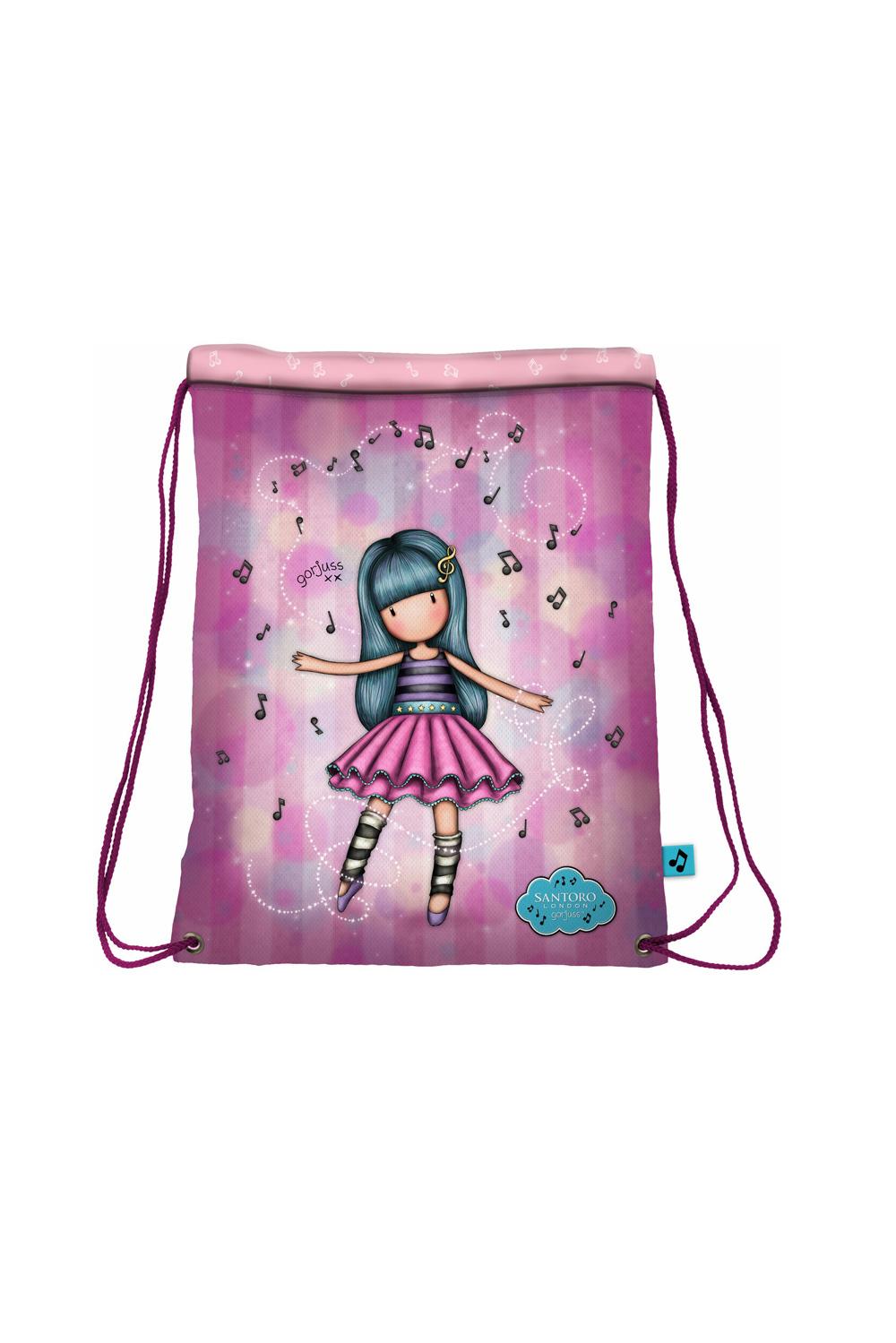 Santoro roza zatezna vrečka z vrvico Gorjuss Dancing Among The Stars