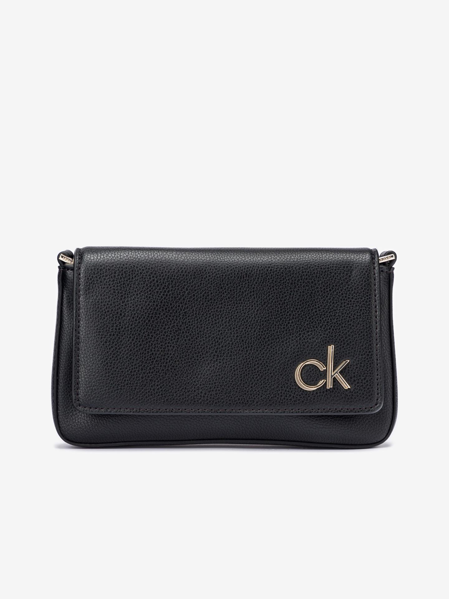 Calvin Klein črna crossbody torbica Ew Flap