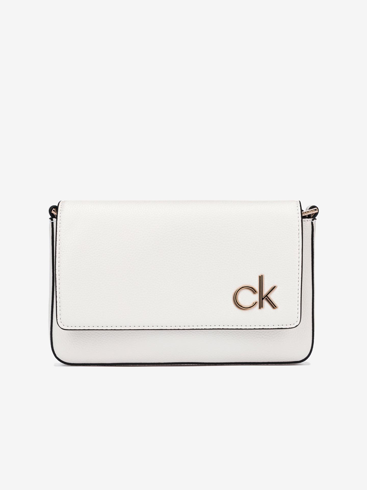 Calvin Klein bela crossbody torbica Ew Flap