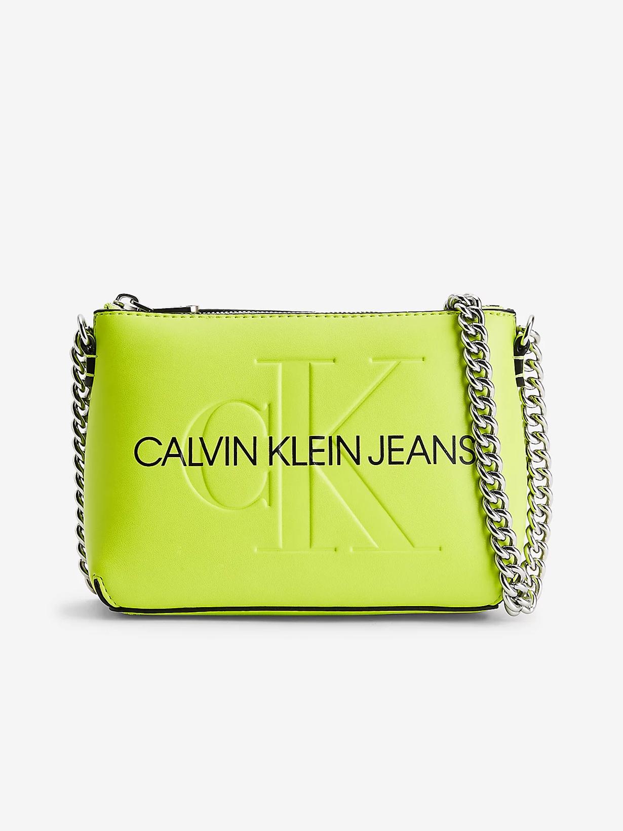 Calvin Klein zelena crossbody torbica
