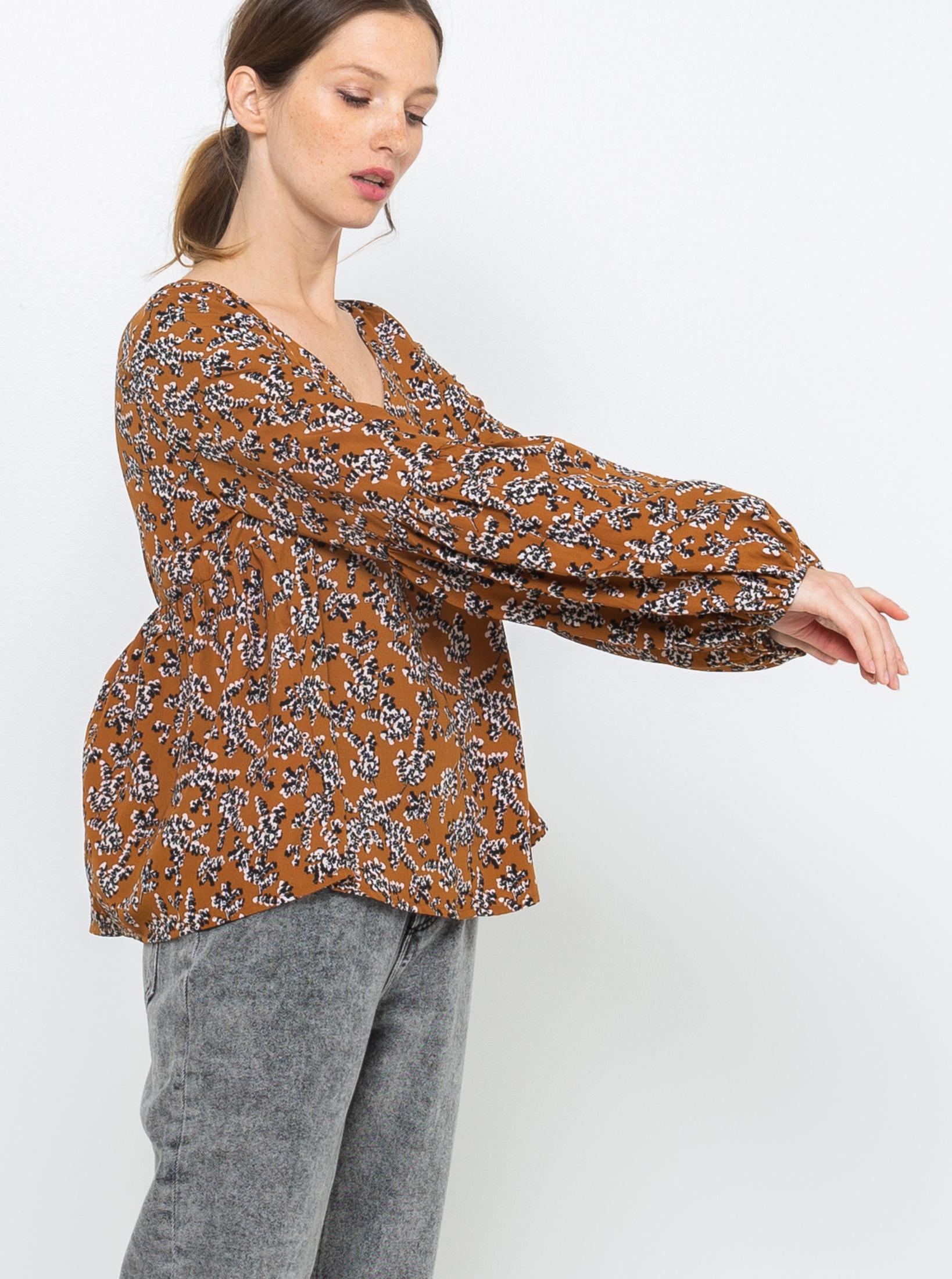 CAMAIEU Ženske bluze rjava