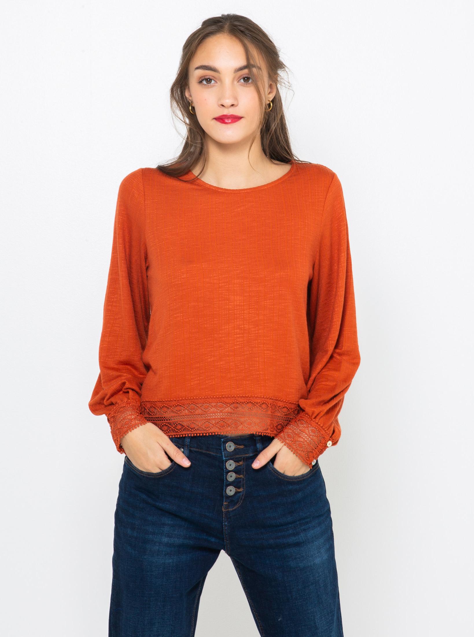 CAMAIEU Ženske majice rjava