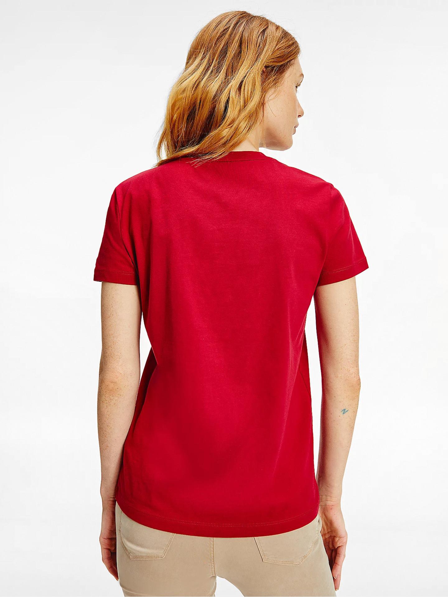 Tommy Hilfiger rdeča ženske majica