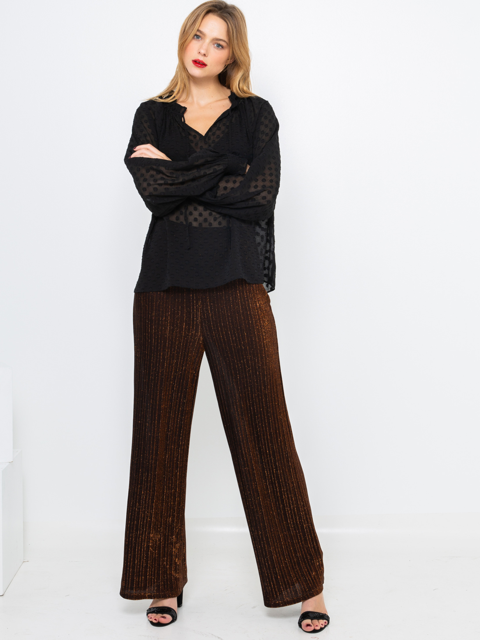 CAMAIEU Ženske bluze črna