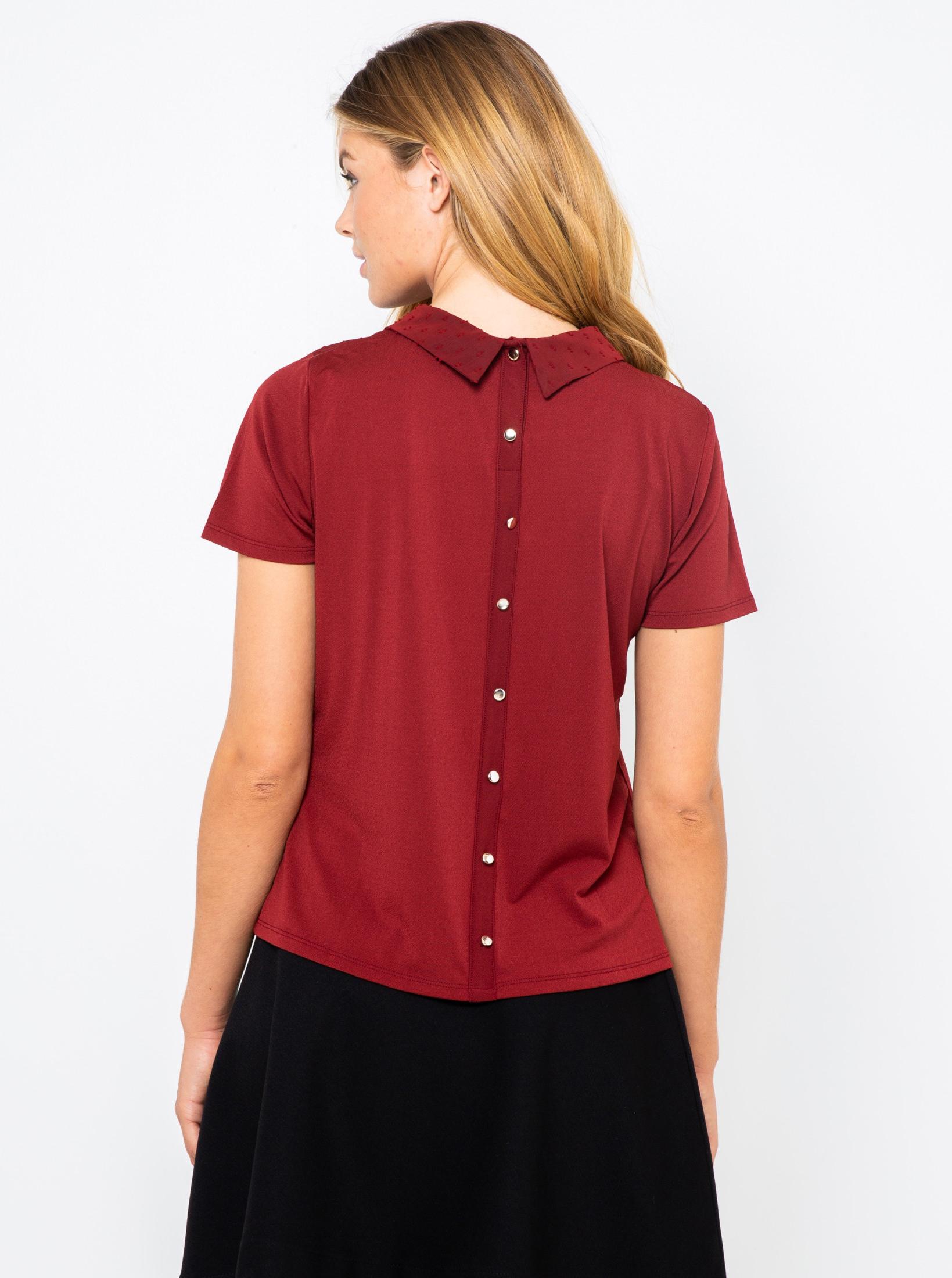 CAMAIEU Ženske bluze vinsko rdeča