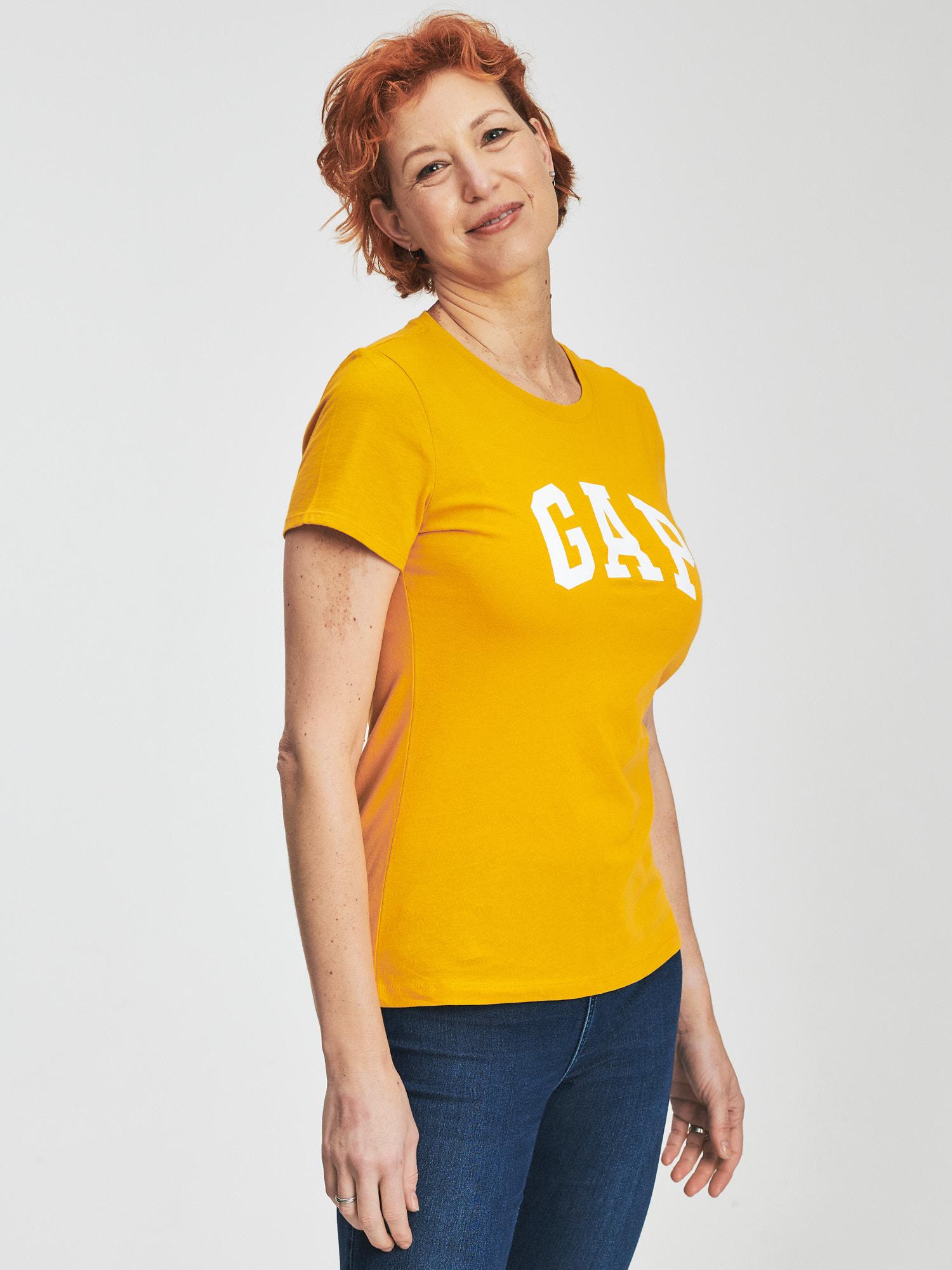 GAP Ženska majica, top rumena