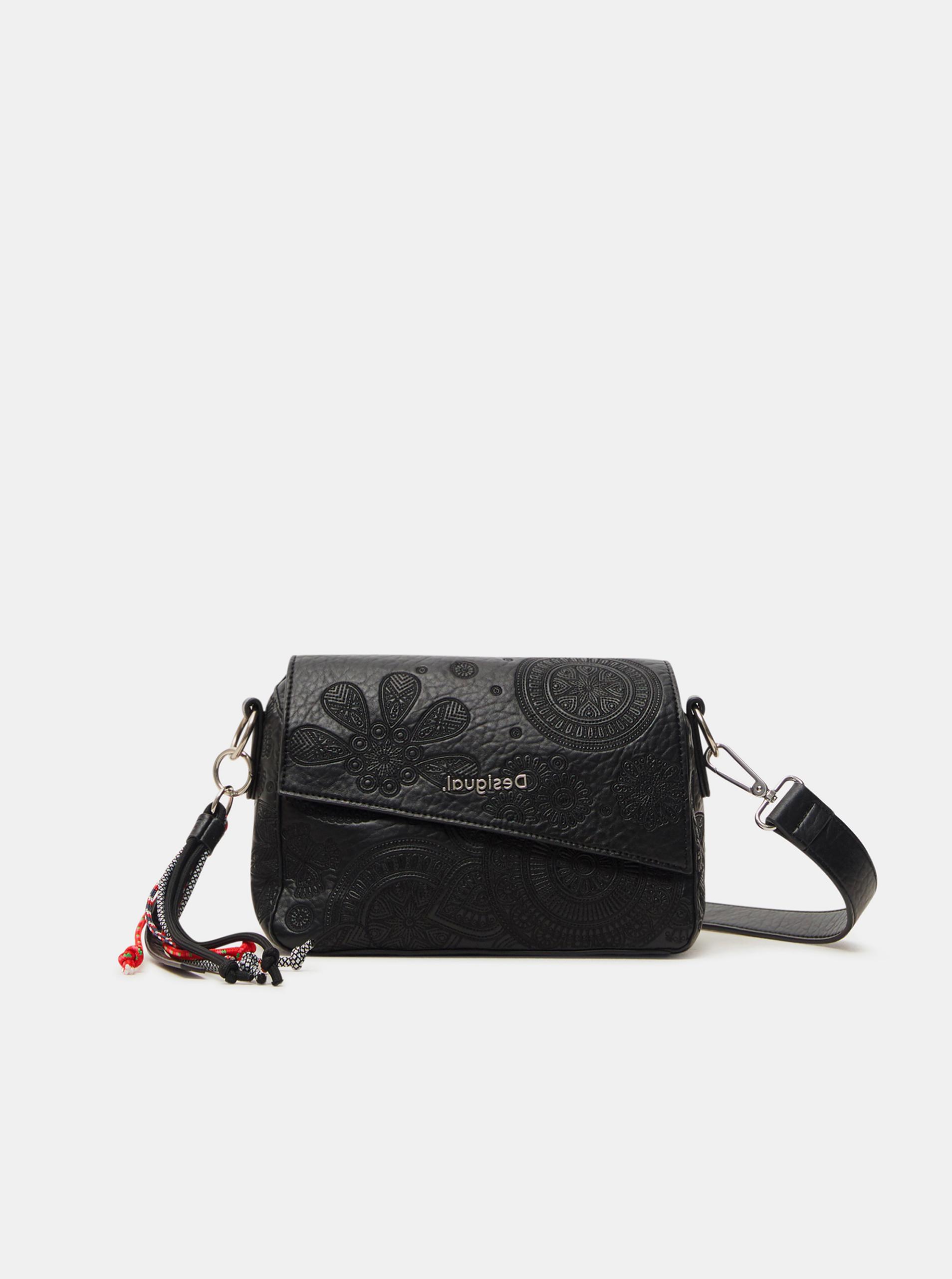 Desigual črna torbica Deja Vu Phuket Mini