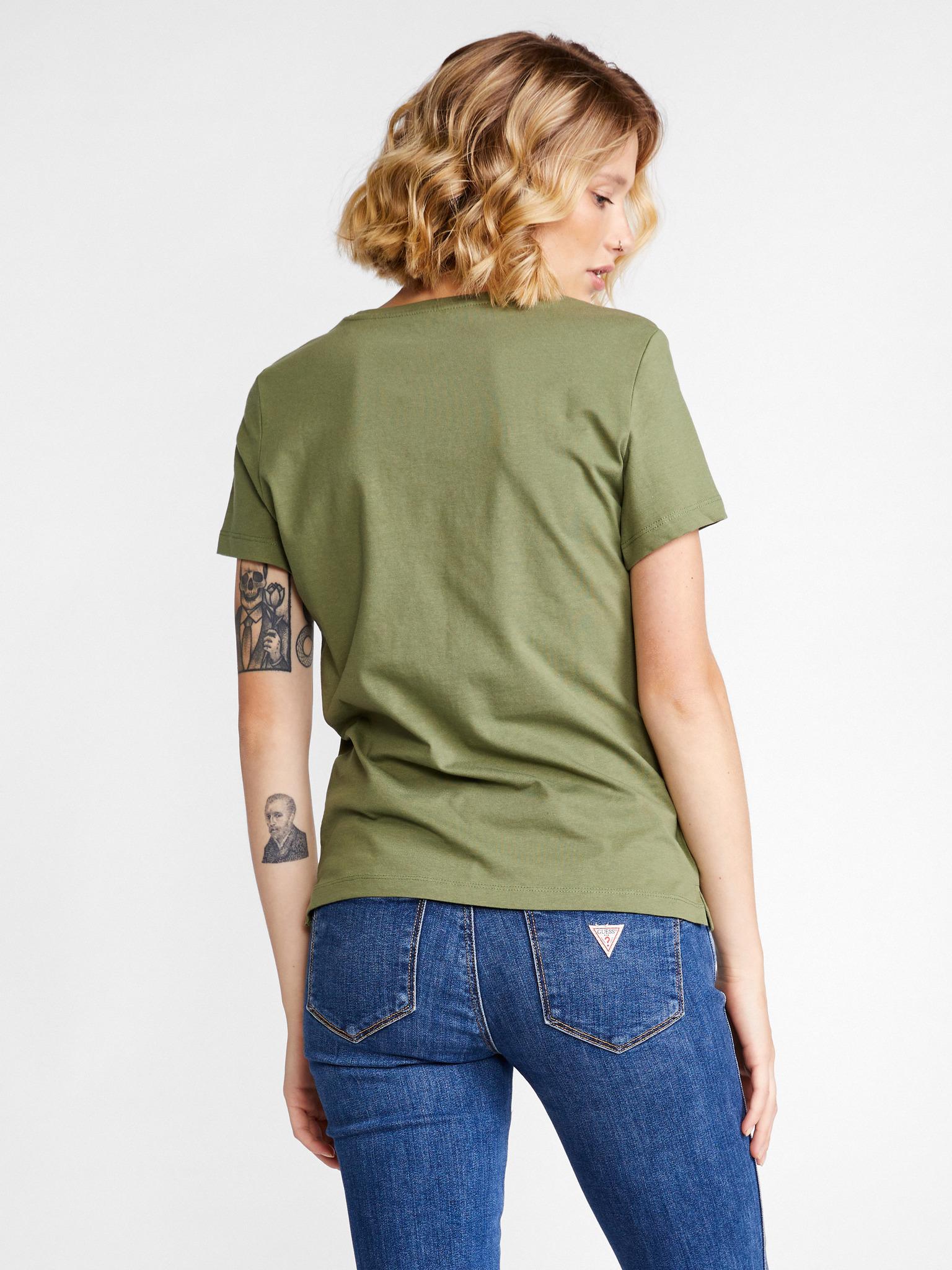 Guess Ženske majice zelena Triko