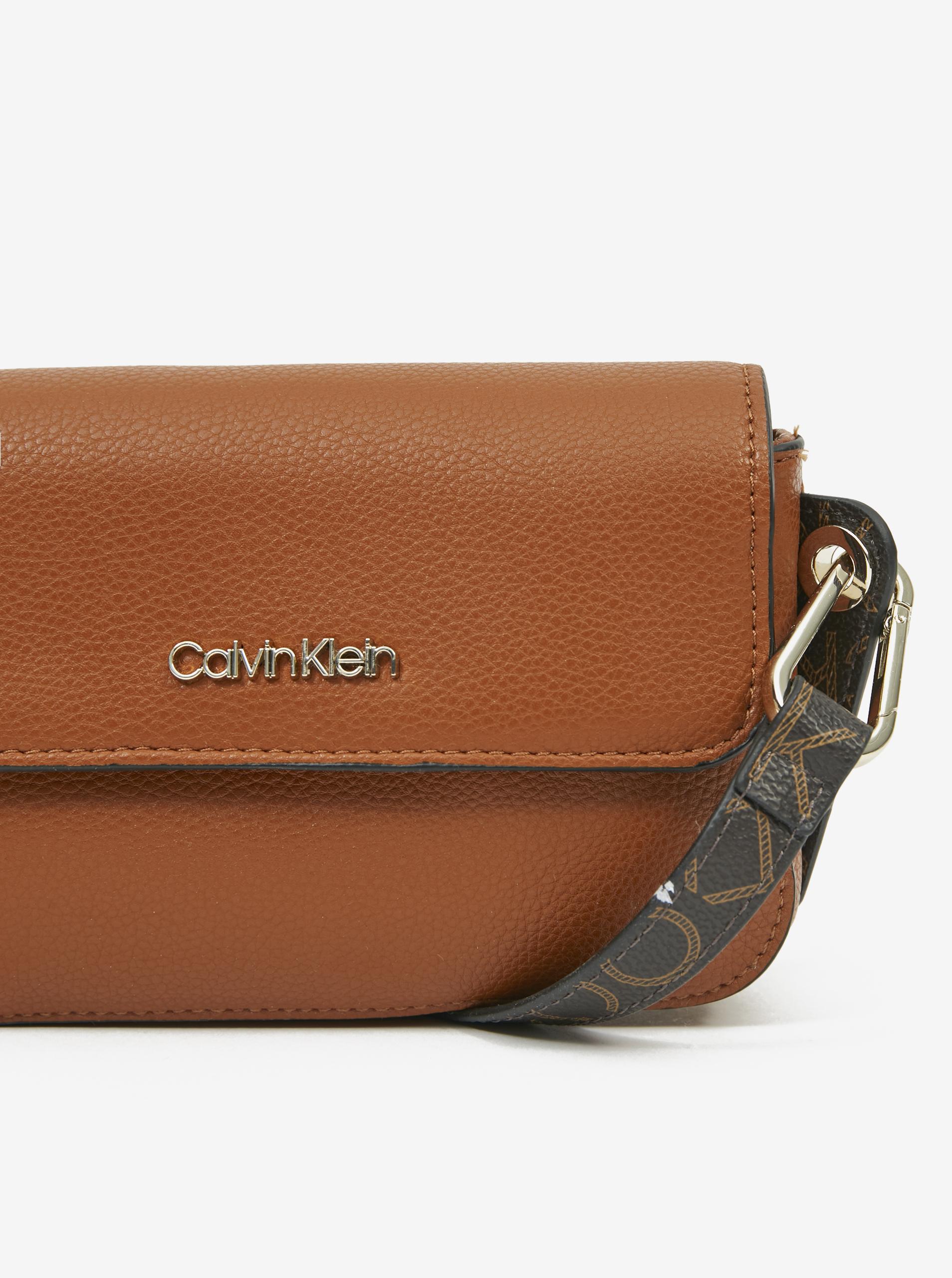 Calvin Klein rjava crossbody torbica