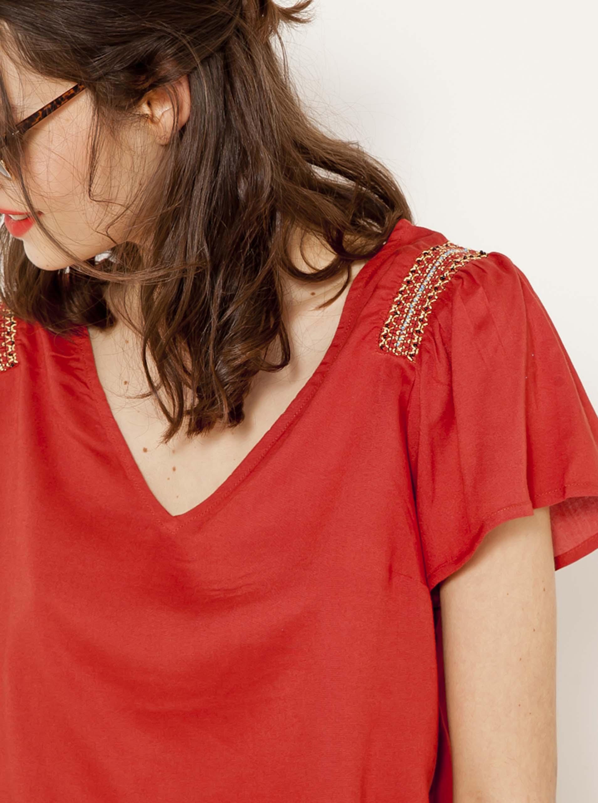 CAMAIEU Ženske bluze rdeča