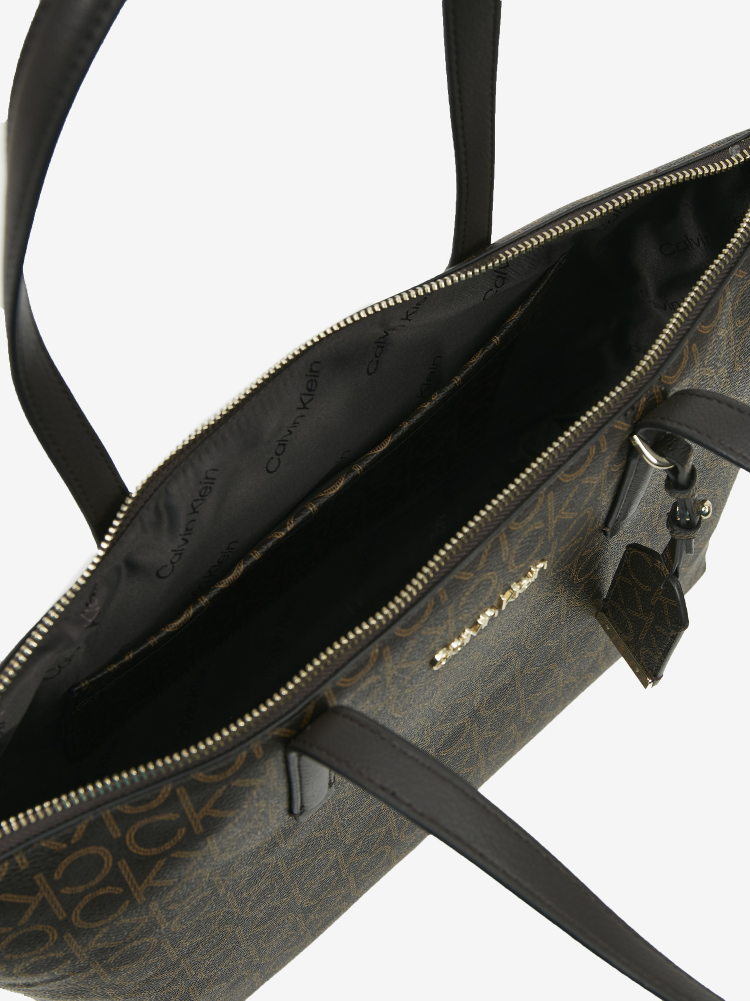 Calvin Klein rjava torbica Must Shopper Medium