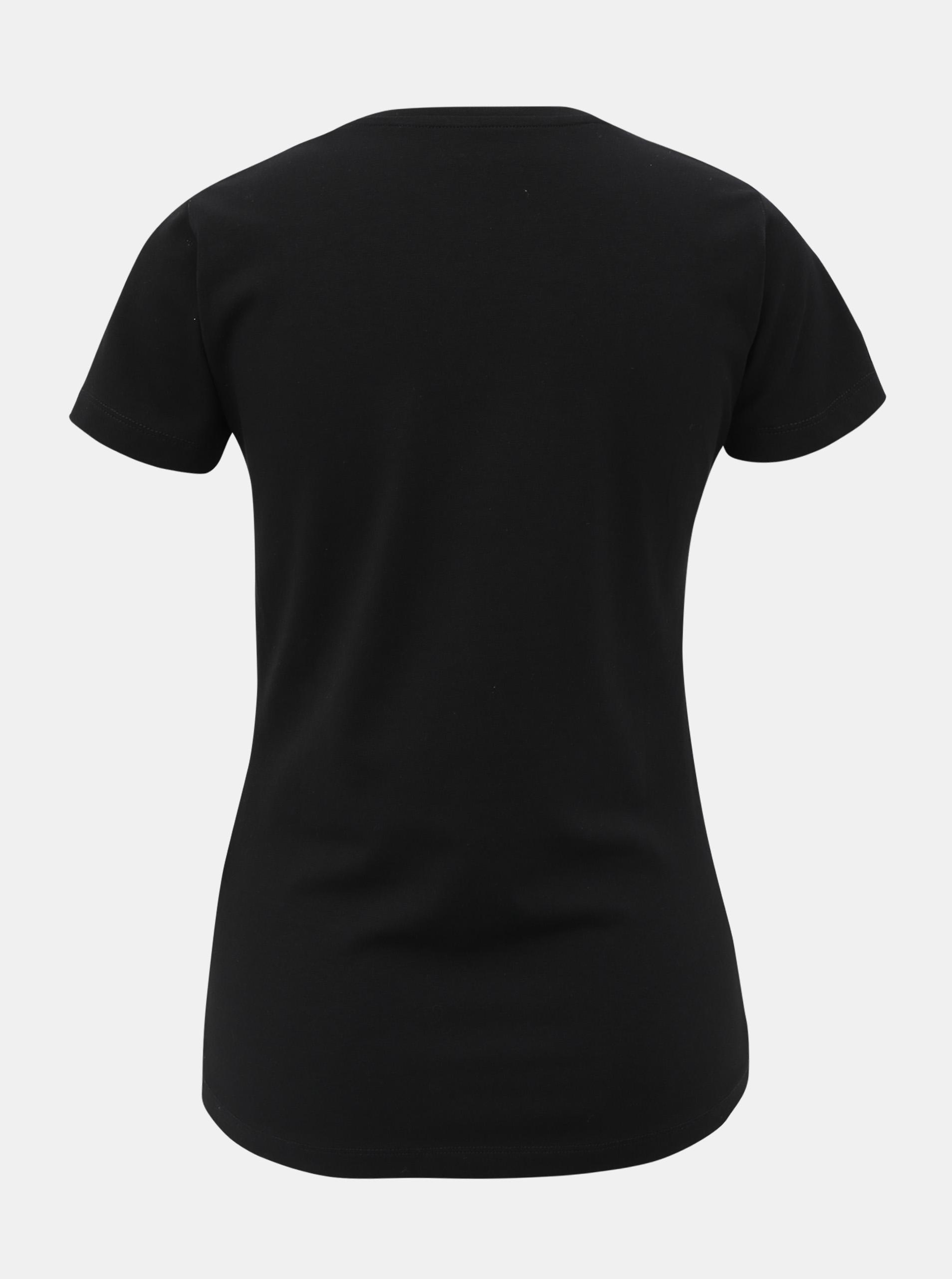 Črna ženska majica s kristali Pepe Jeans Beatrice