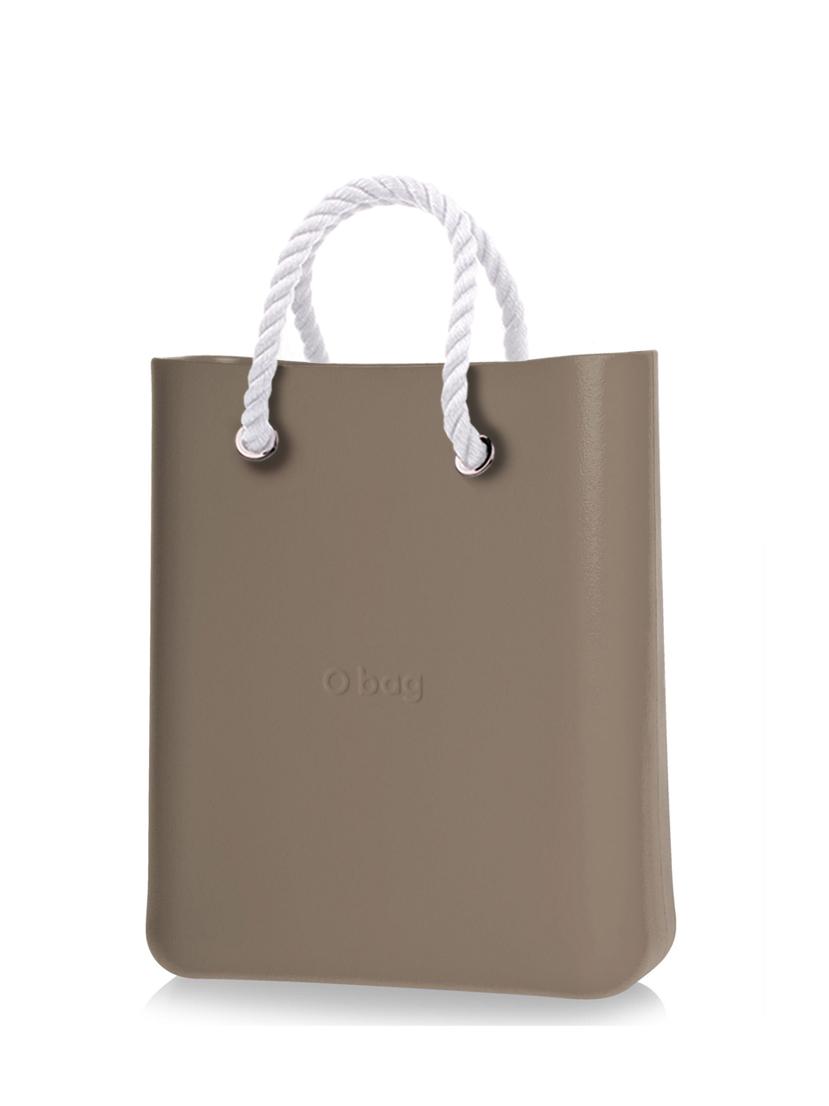 O bag  O Chic torbica Rock z belimi kratkimi ročaji iz vrvi