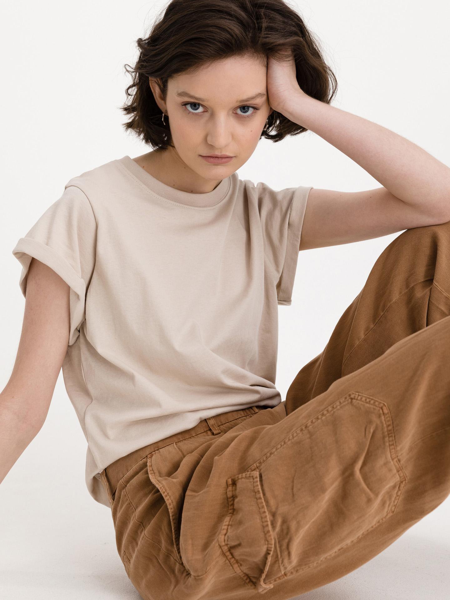 Replay Ženske majice bež
