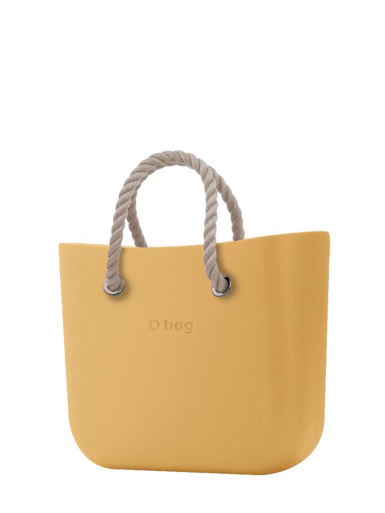O bag  torbica Caramello s kratkimi naravnimi ročaji iz vrvi
