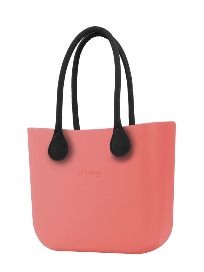 O bag  MINI torbica Corallo s črnimi dolgimi usnjenimi ročaji