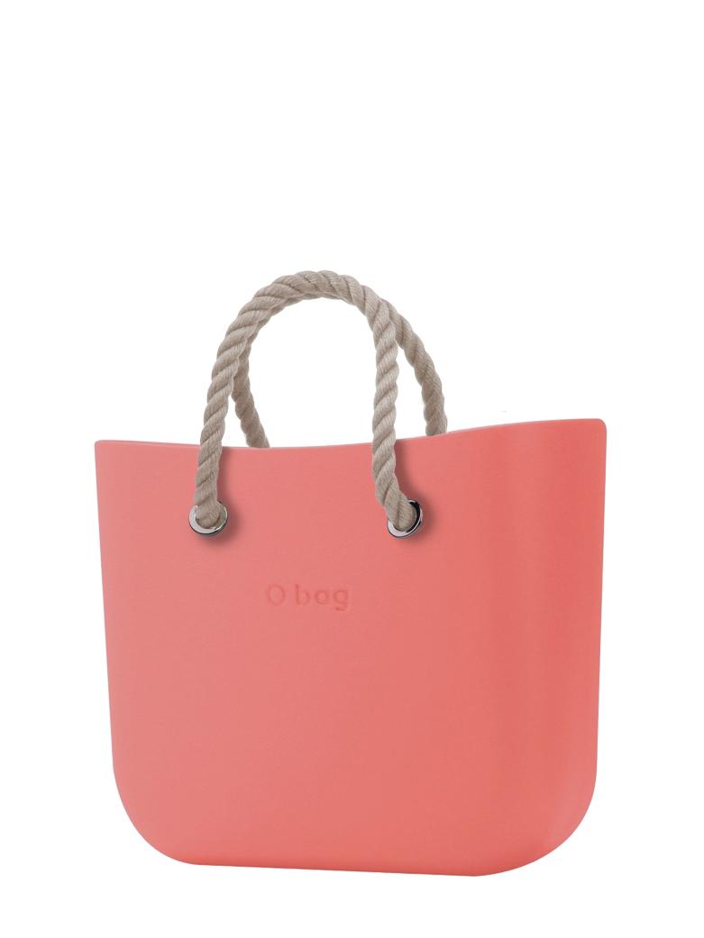 O bag  torbica MINI Corallo s kratkimi naravnimi ročaji iz vrvi