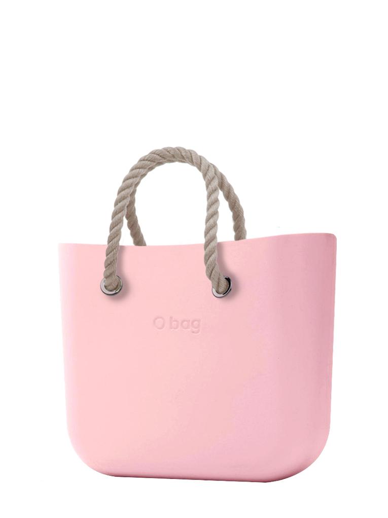 O bag  torbica Cipria s kratkimi naravnimi ročaji iz vrvi