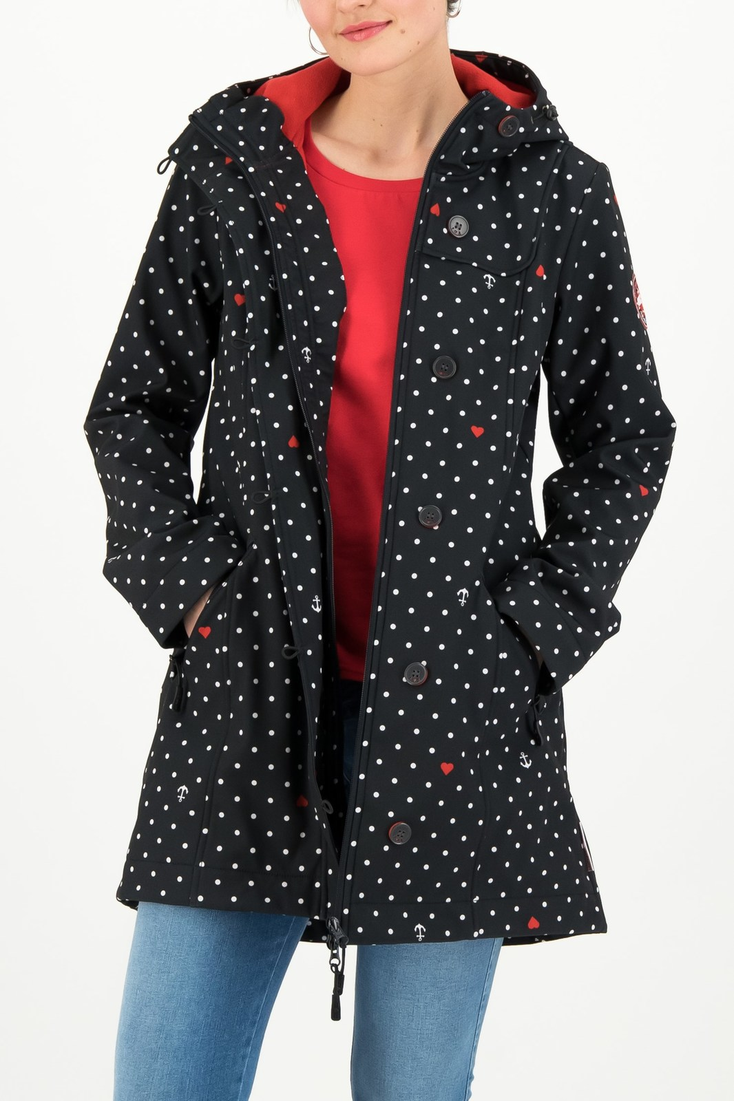 Blutsgeschwister črna jakna Wild Weather Long Anorak Casual Anchor