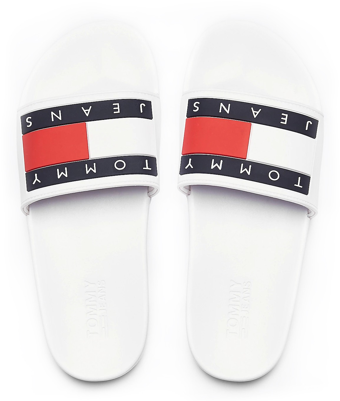Tommy Hilfiger bela natikači Tommy Jeans Flag Pool Slide White