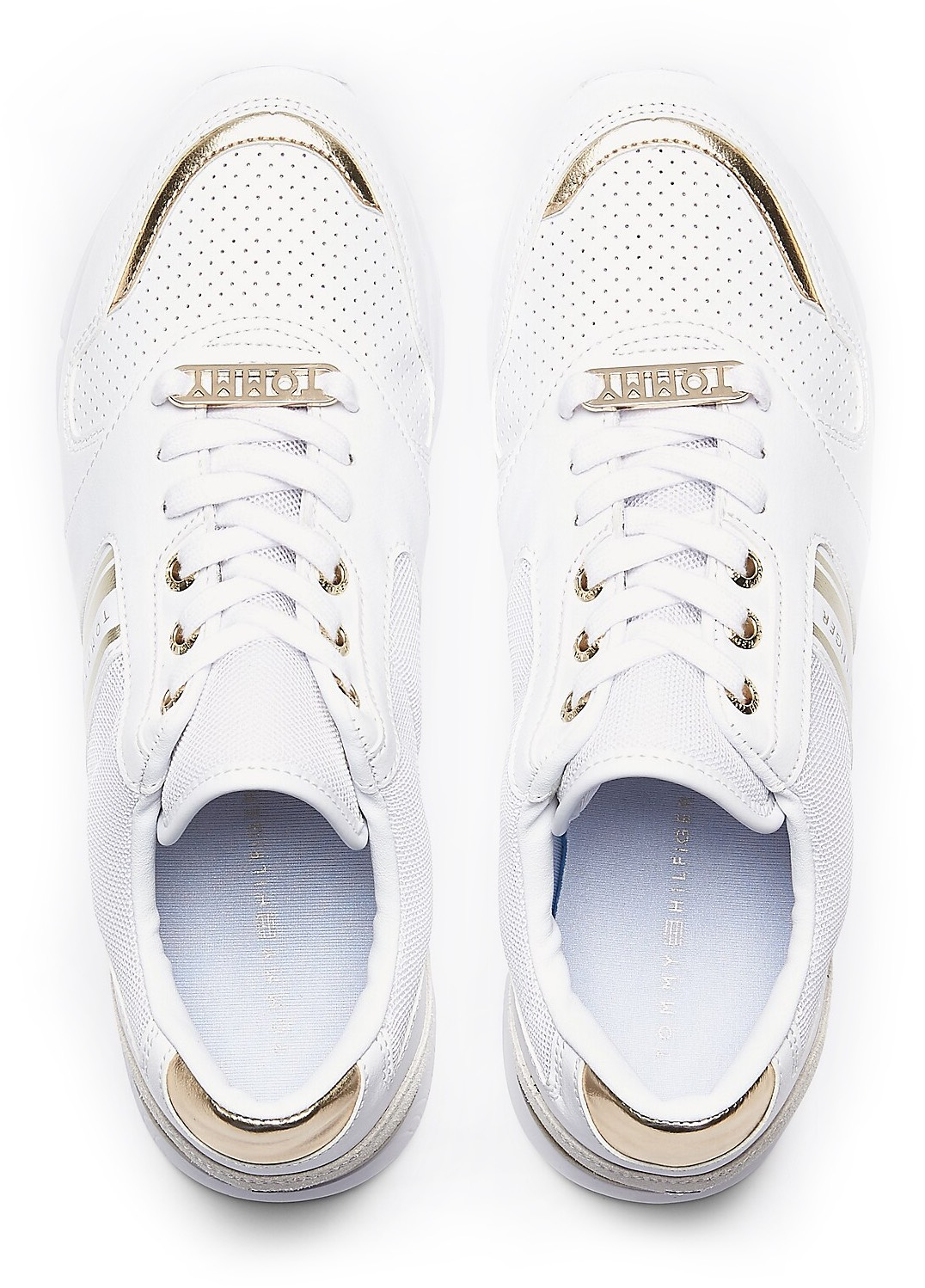 Tommy Hilfiger bela superge Metallic Lightweight Sneaker White/Light Gold