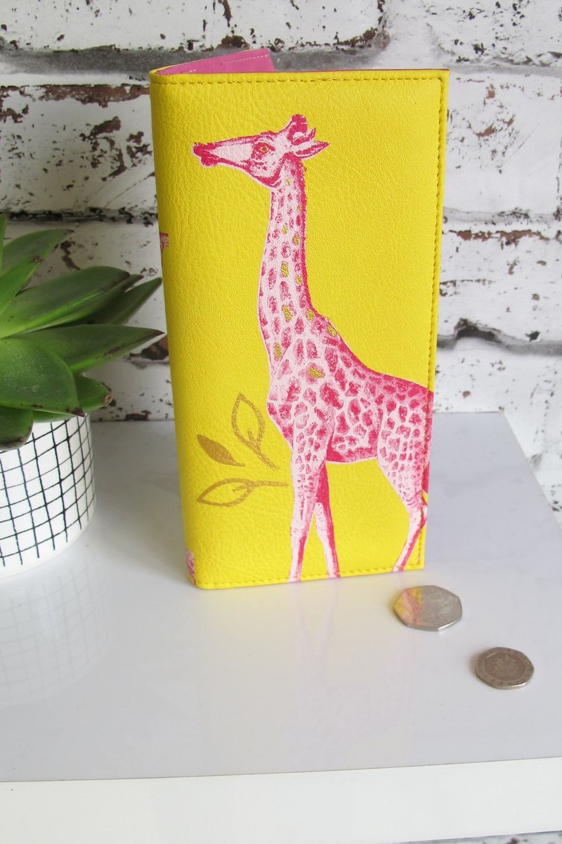"Disaster rumena denarnica Heritage and Herlequin ""Giraffe"" Wallet"