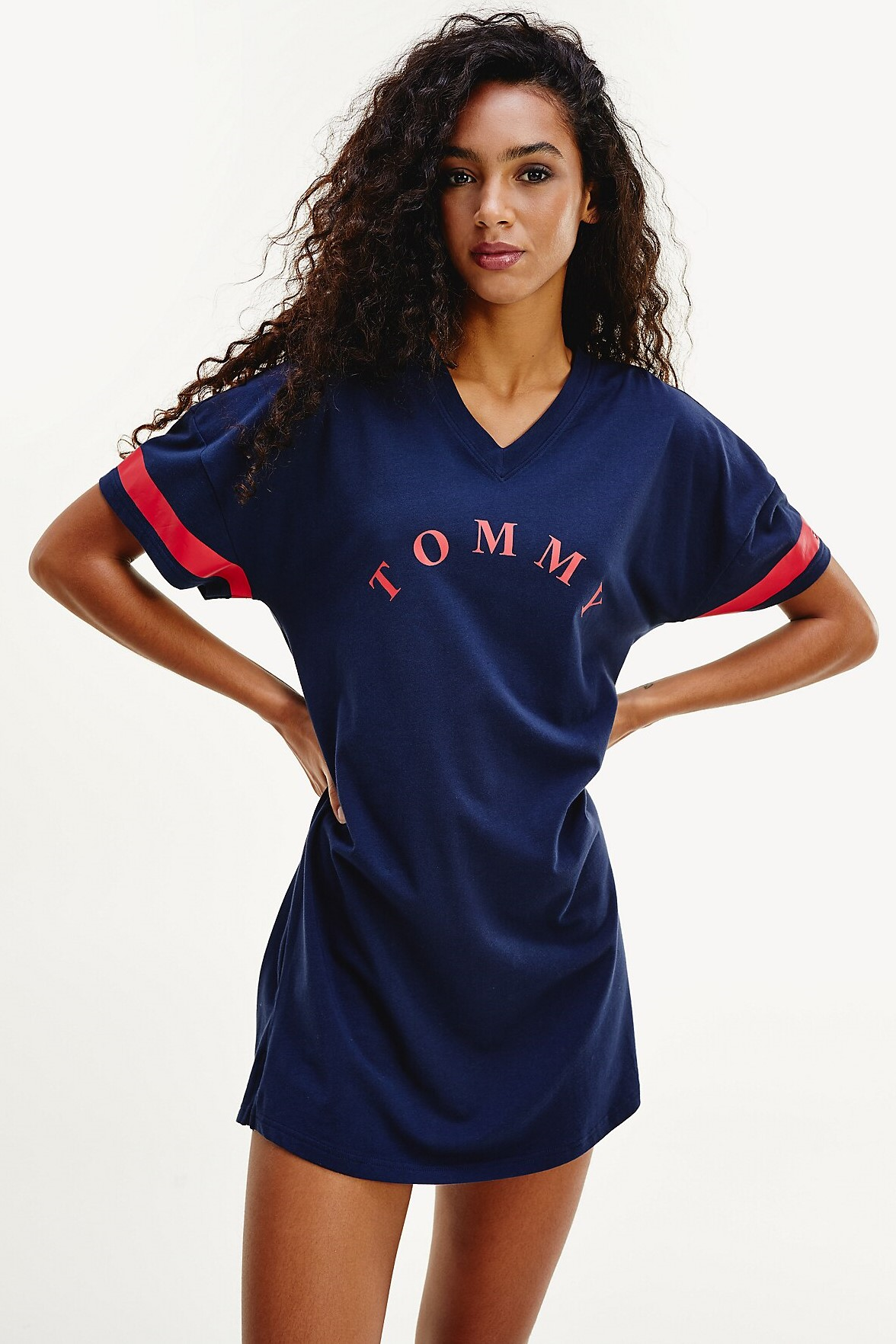 Tommy Hilfiger modra obleka VN Dress SS