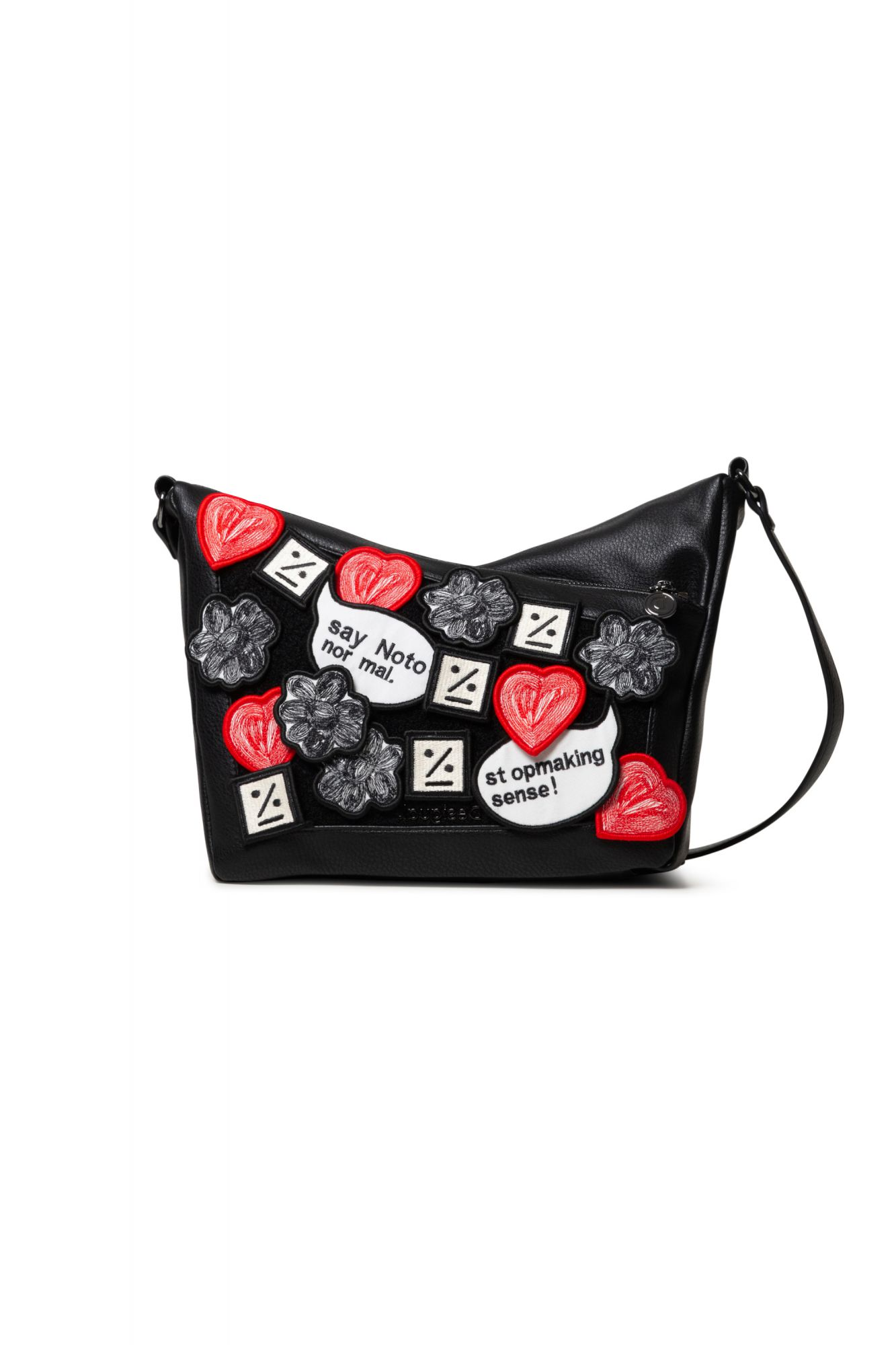 Desigual črna crossbody torbica Bols Magpie Harry Mini