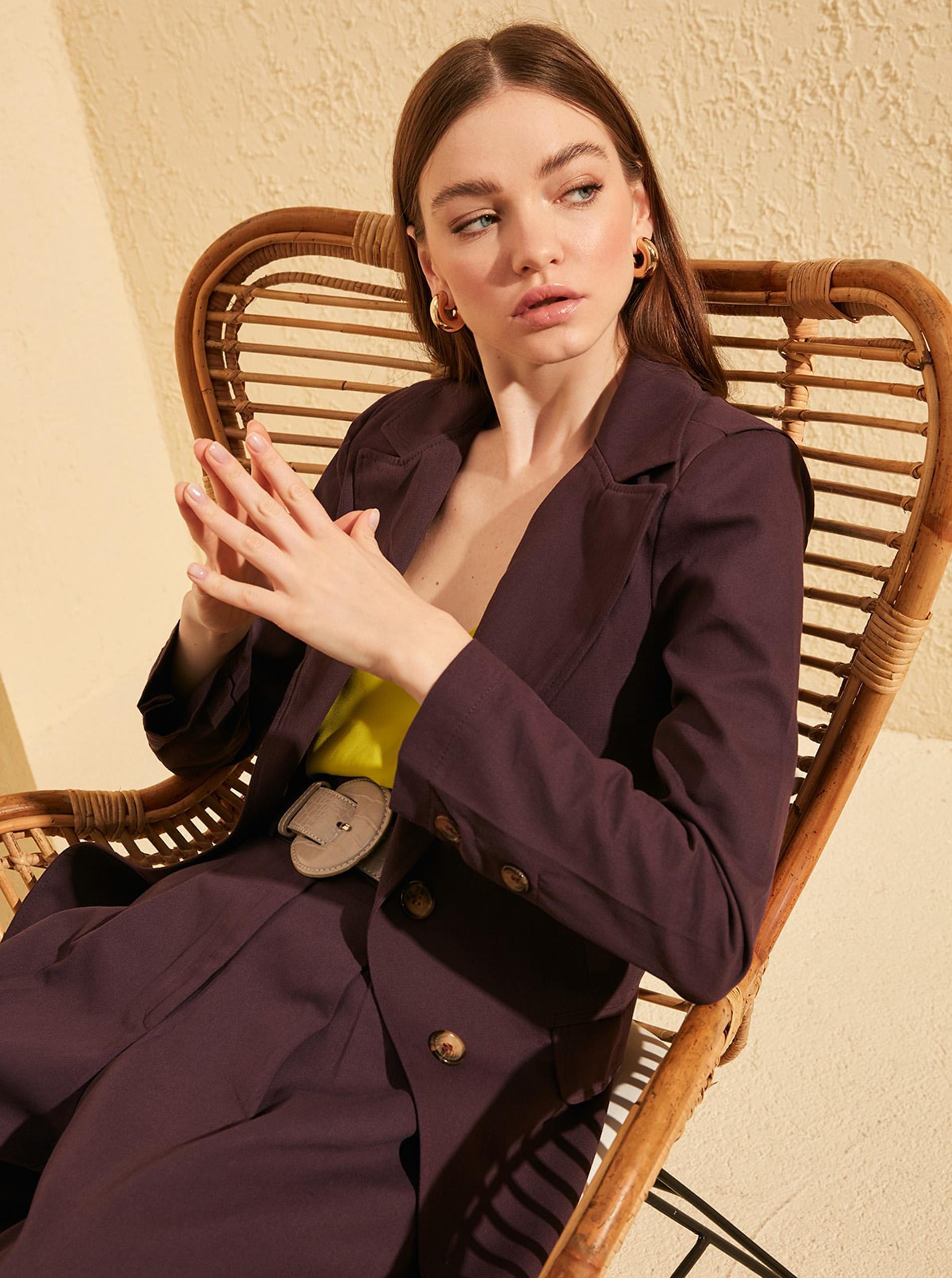 Trendyol vijolična ženski suknjič