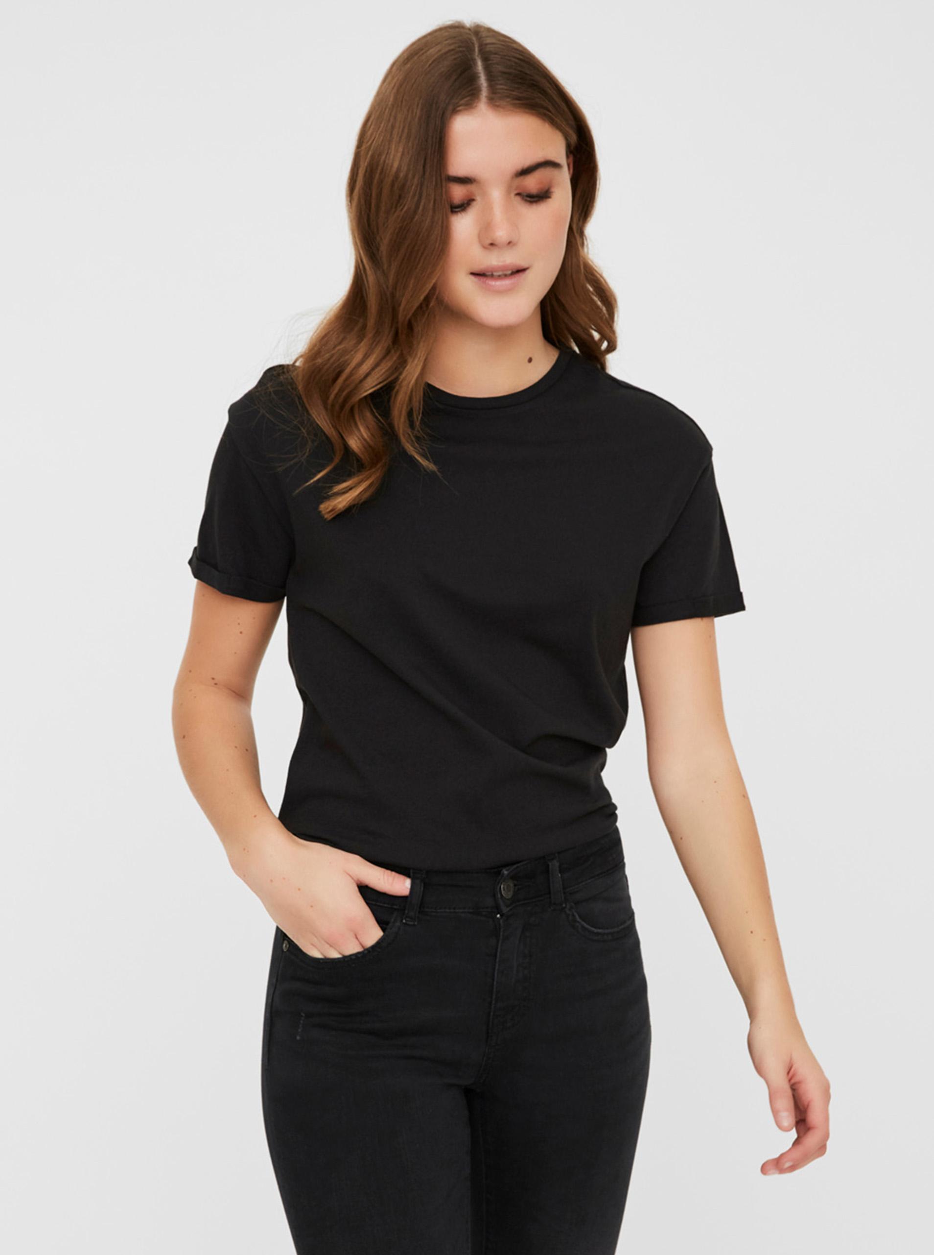 Črna osnovna majica Noisy May Brandy