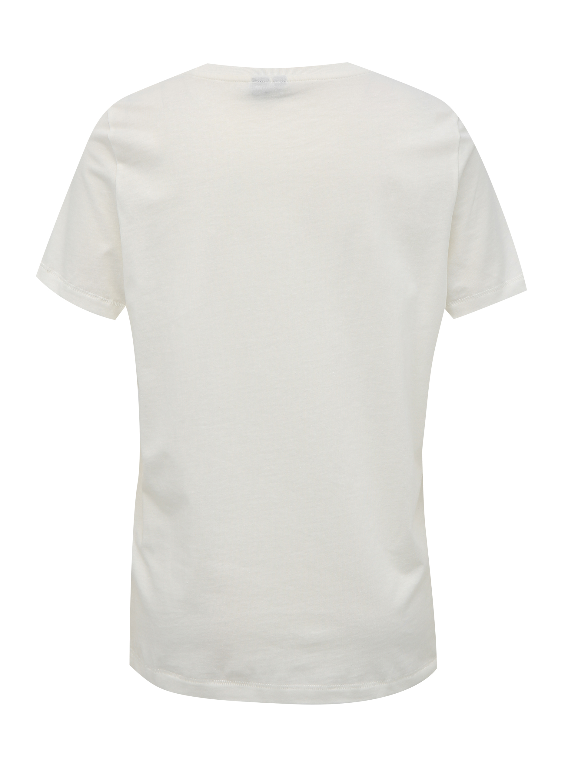 Vero Moda bela majica Desert s tiskom