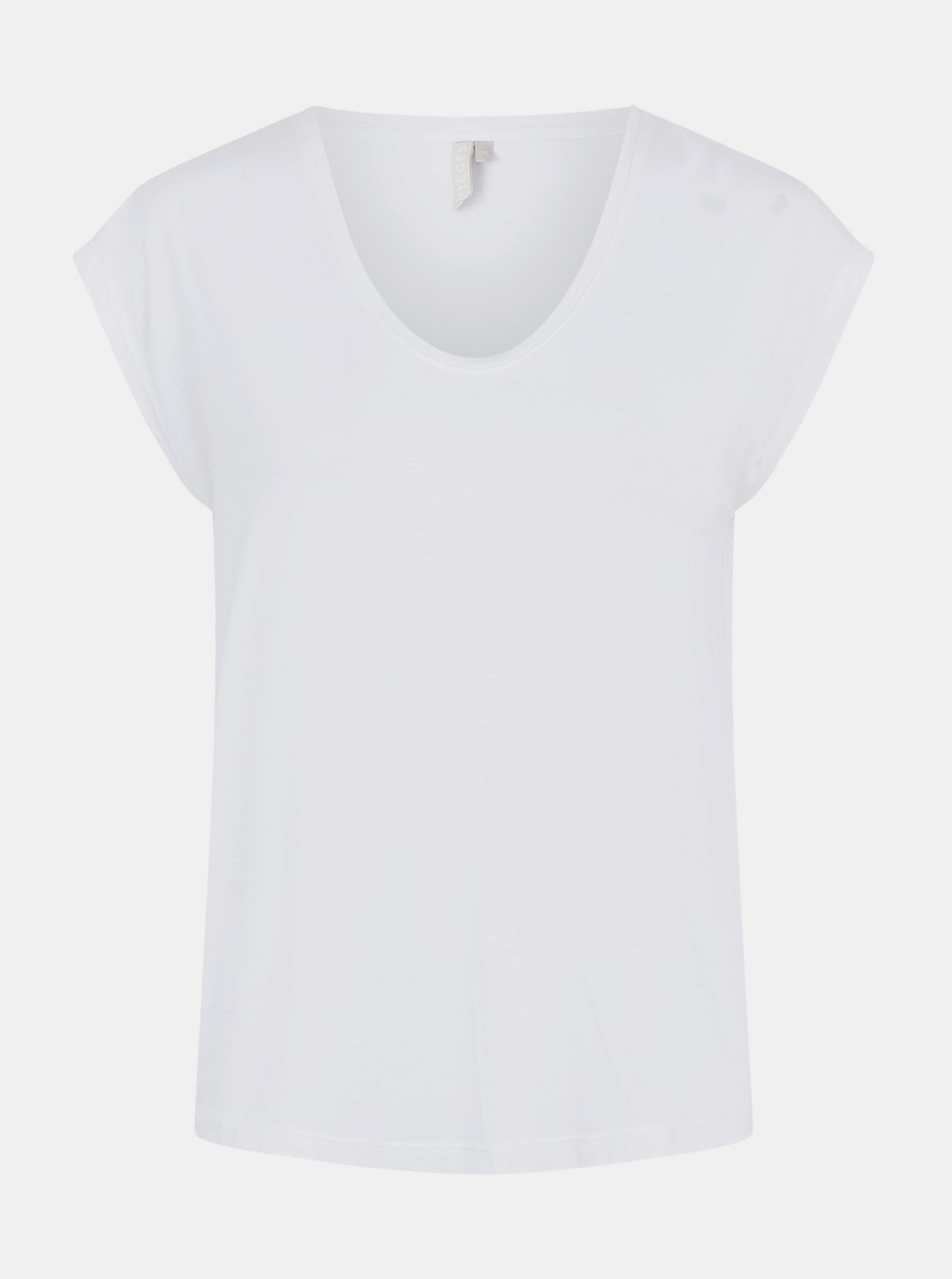 Bela osnovna majica Pieces Billo