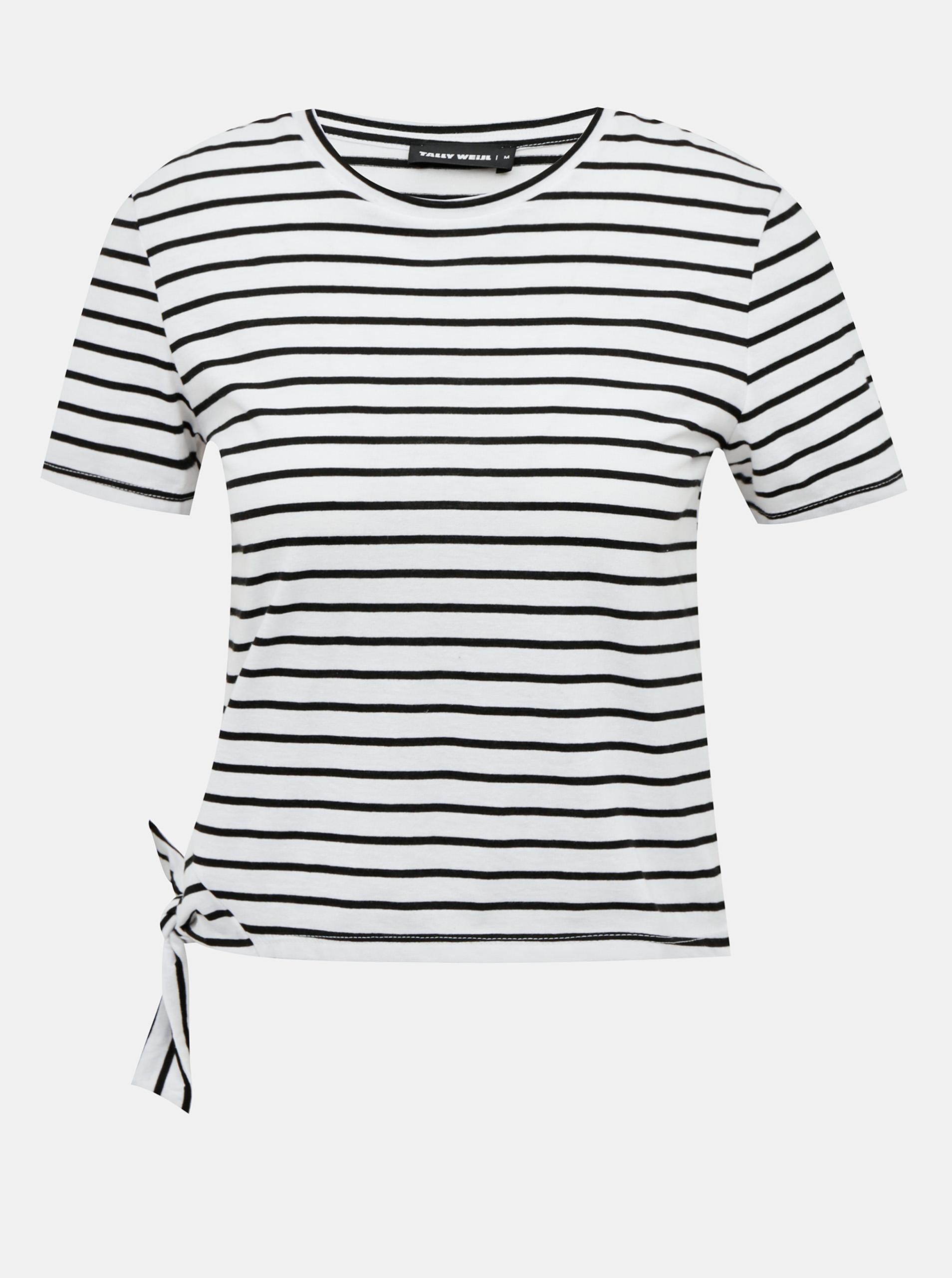 Črno-bela črta kratka majica TALLY WEiJL