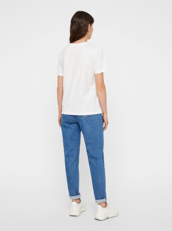 Bela osnovna majica Pieces Ria
