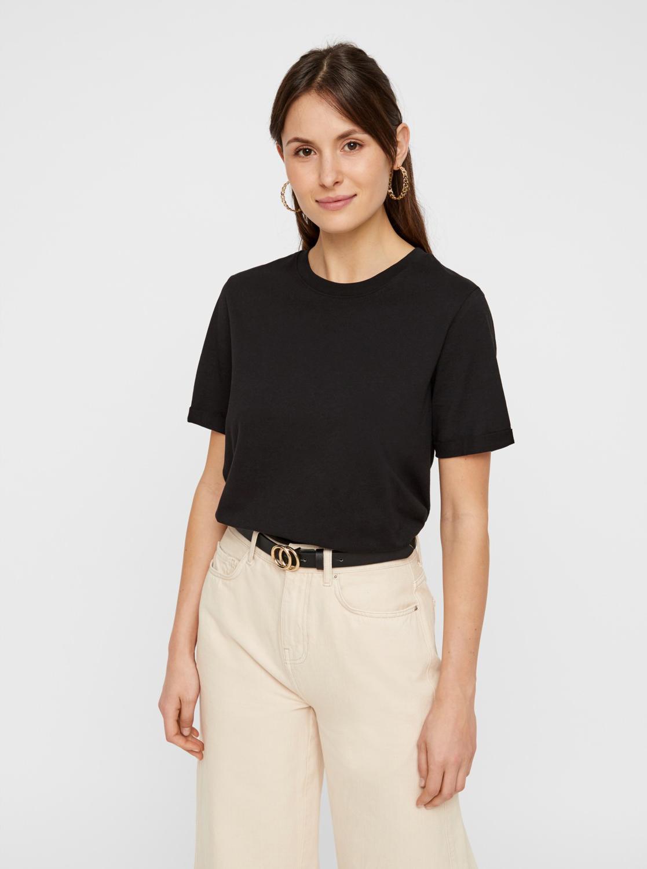 Črna osnovna majica Pieces Ria