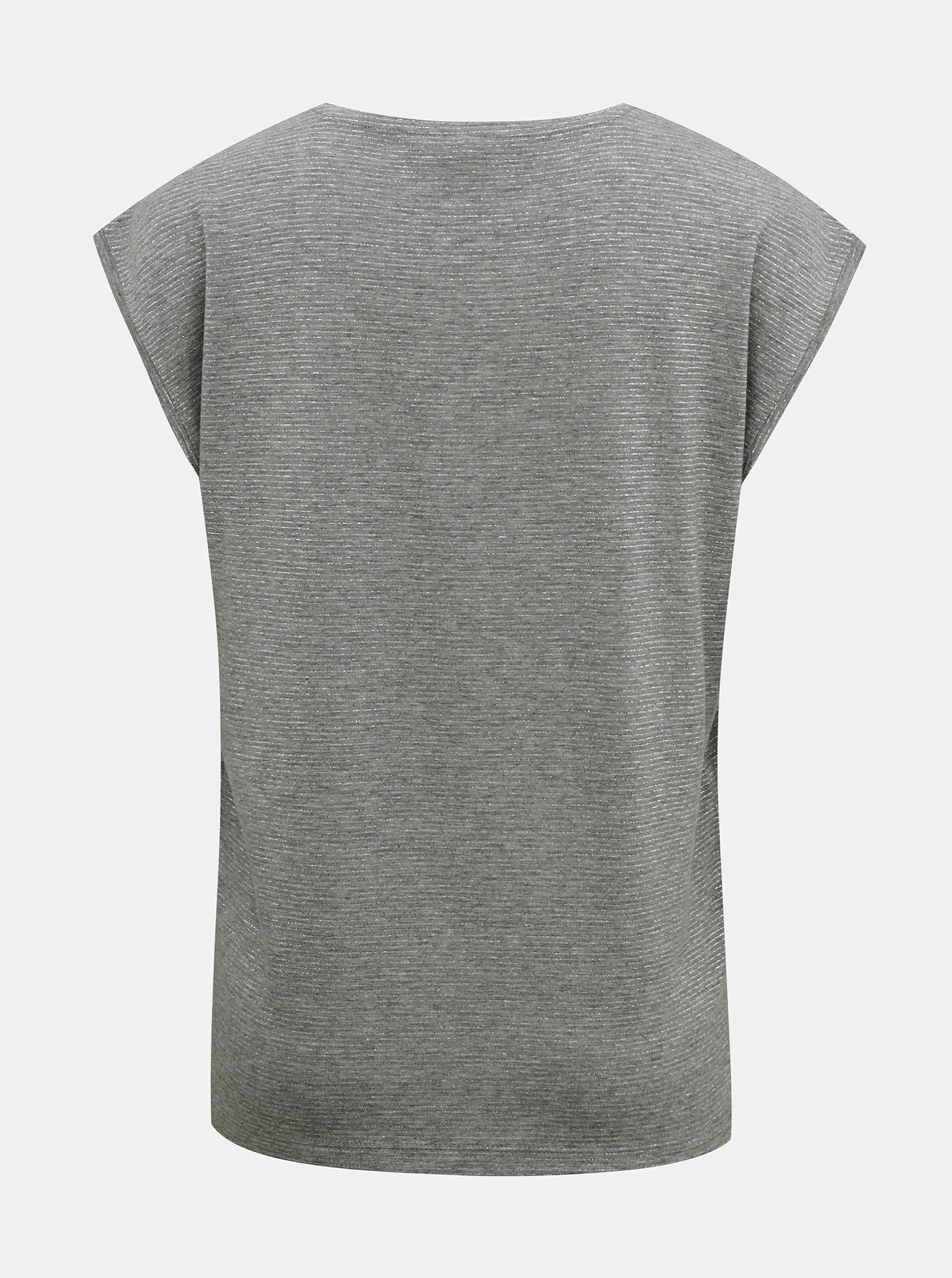Siva majica s kovinskimi vlakni Kosi