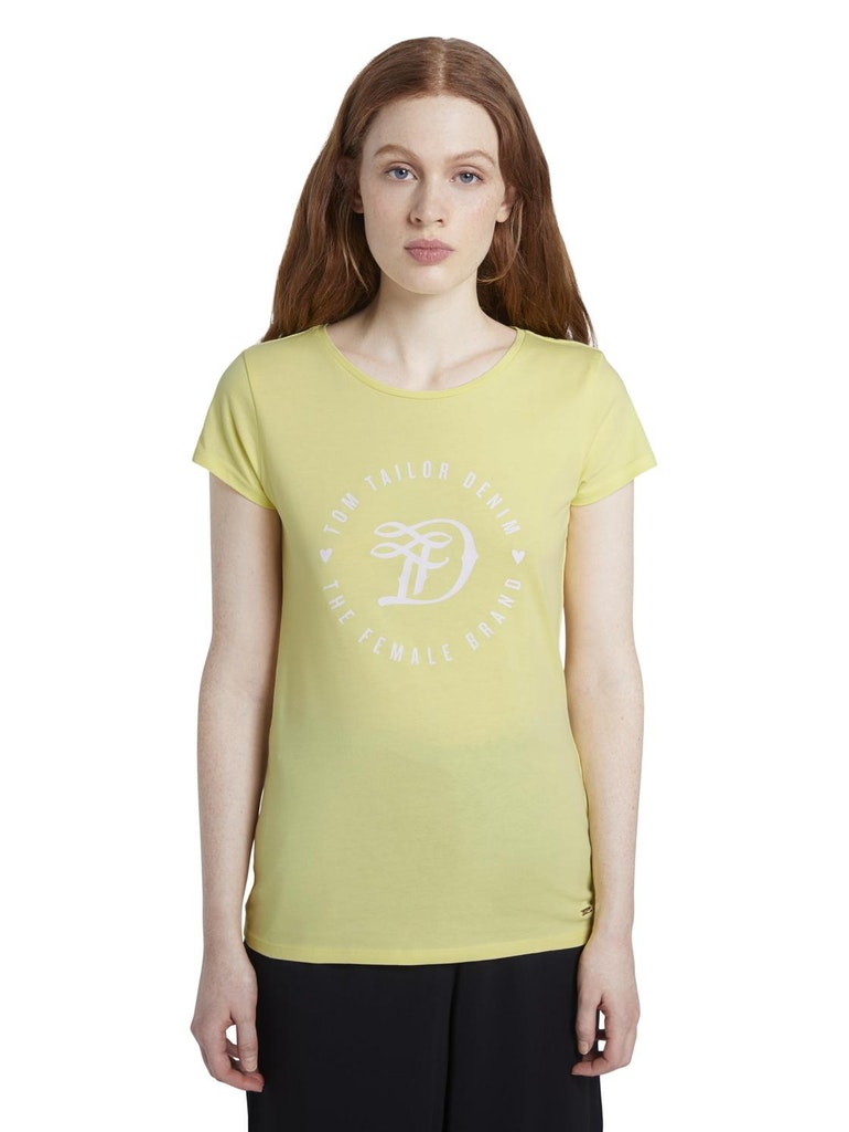 Rumena ženska majica Tom Tailor Denim