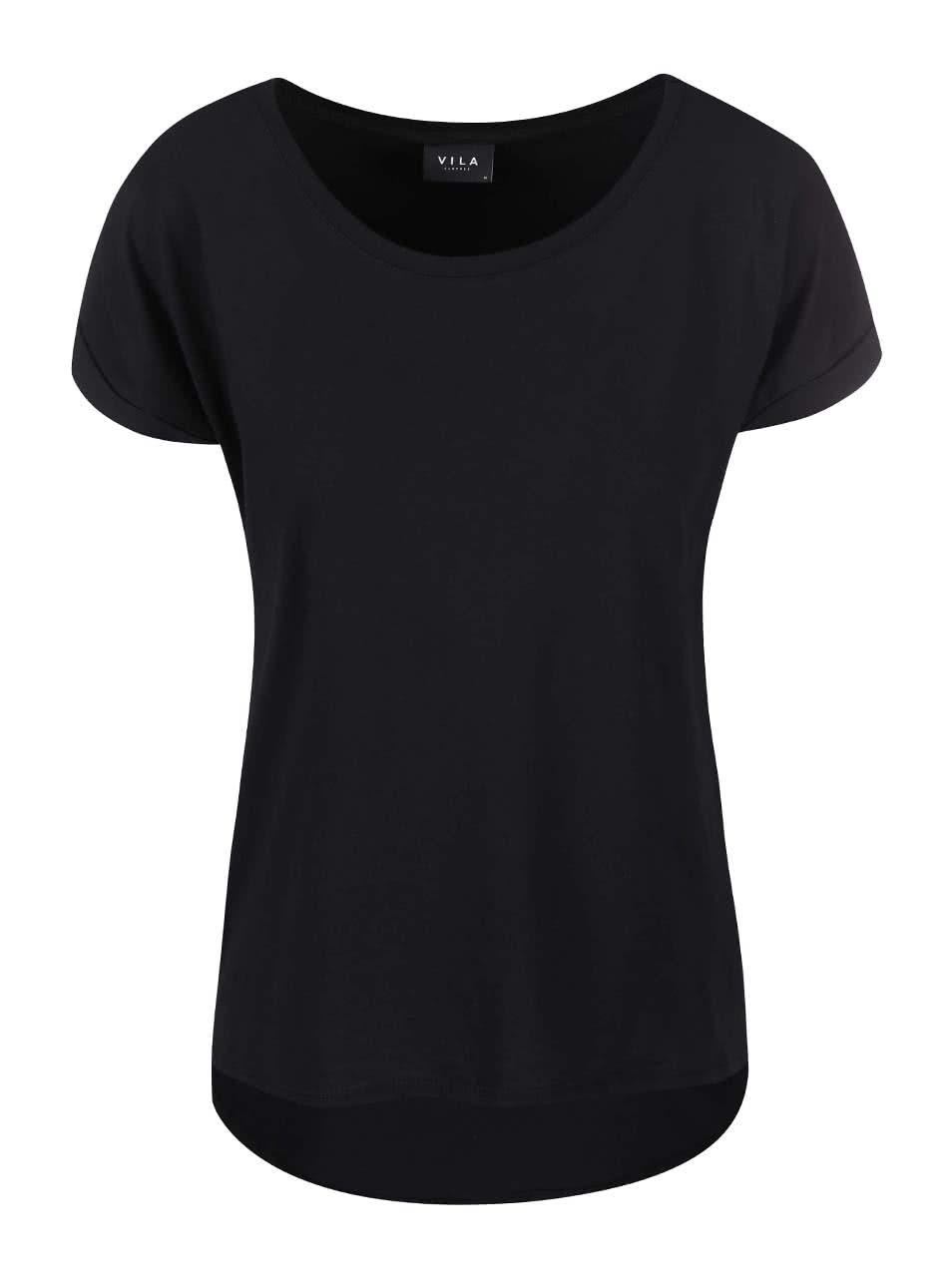 Črna osnovna majica VILA Dreamers